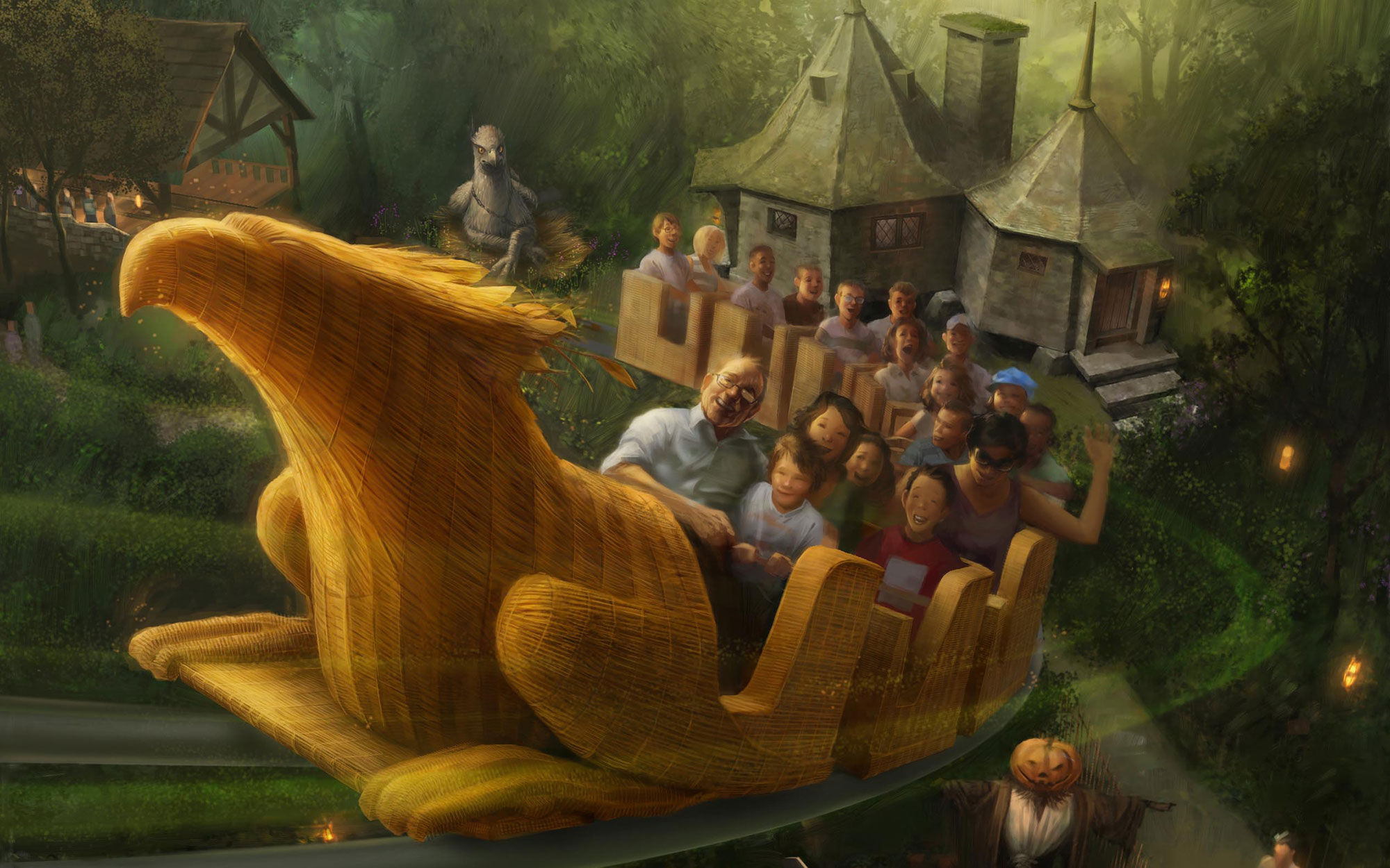 """""""The Wizarding World of Harry Potter"""" at Universal Studios Hollywood - Flight of the Hippogriff concept rendering"""