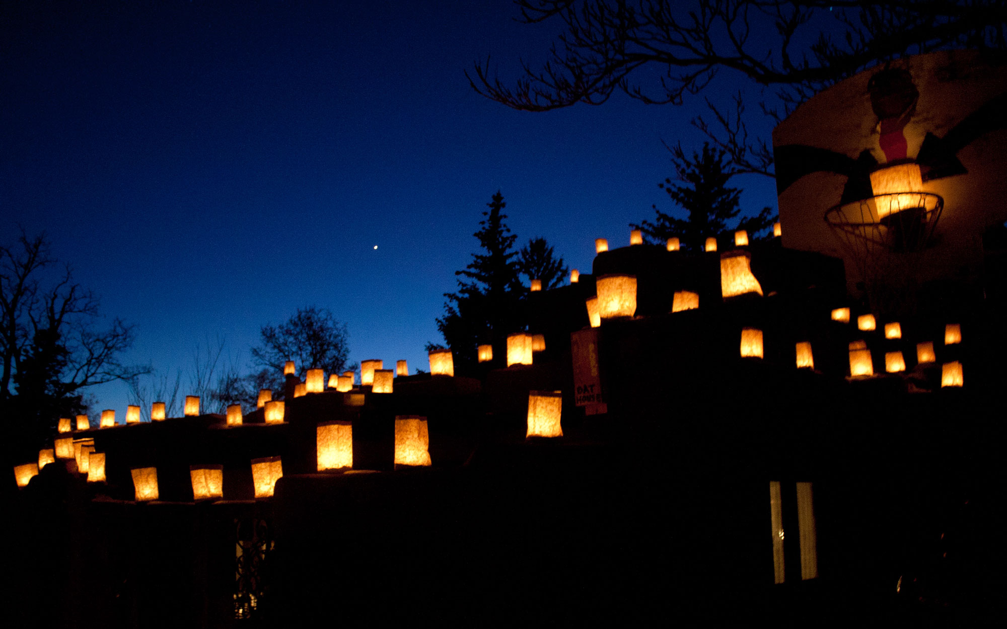Santa Fe New Mexico Farolito Walk Luminaries