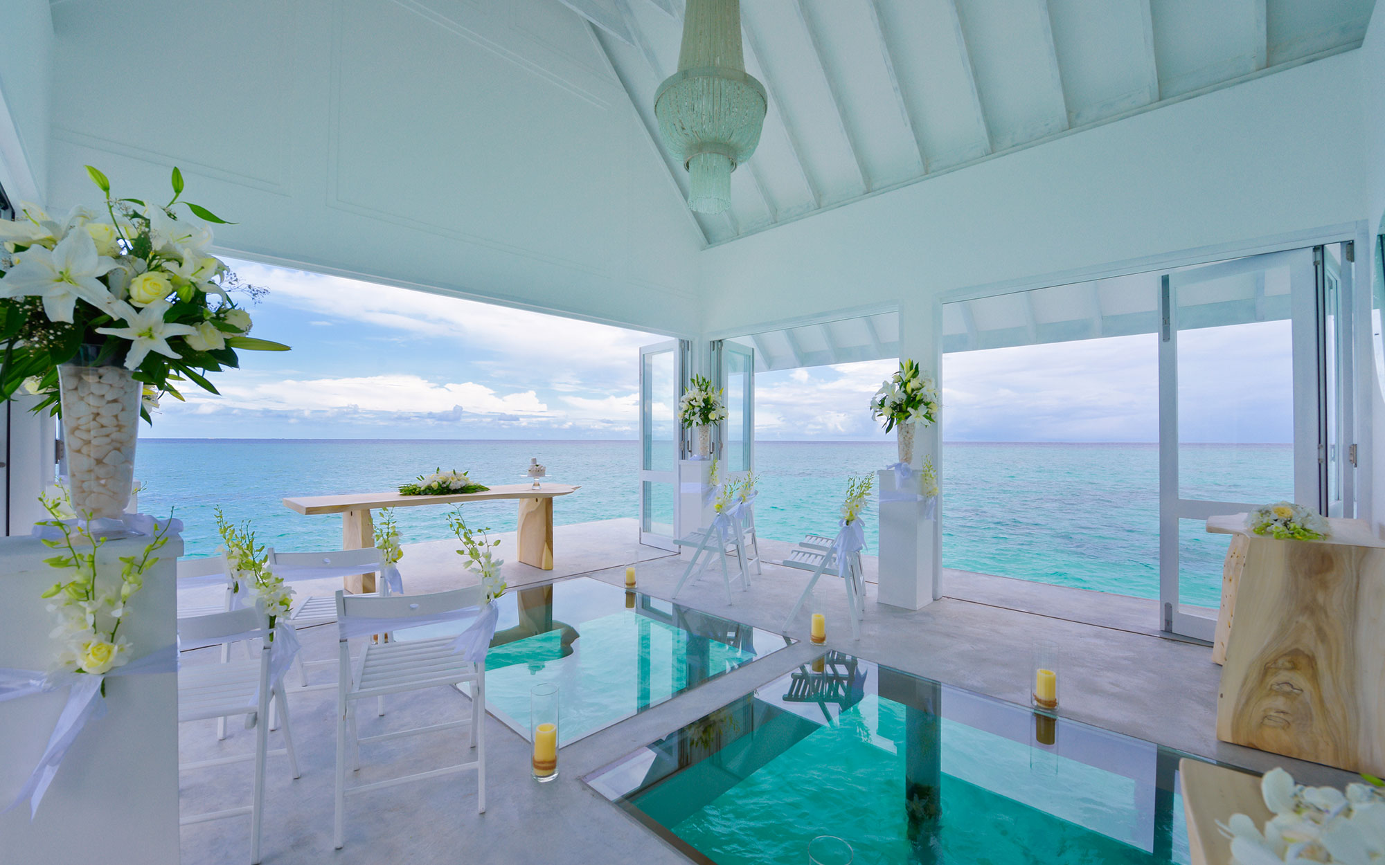 floating wedding pavilion