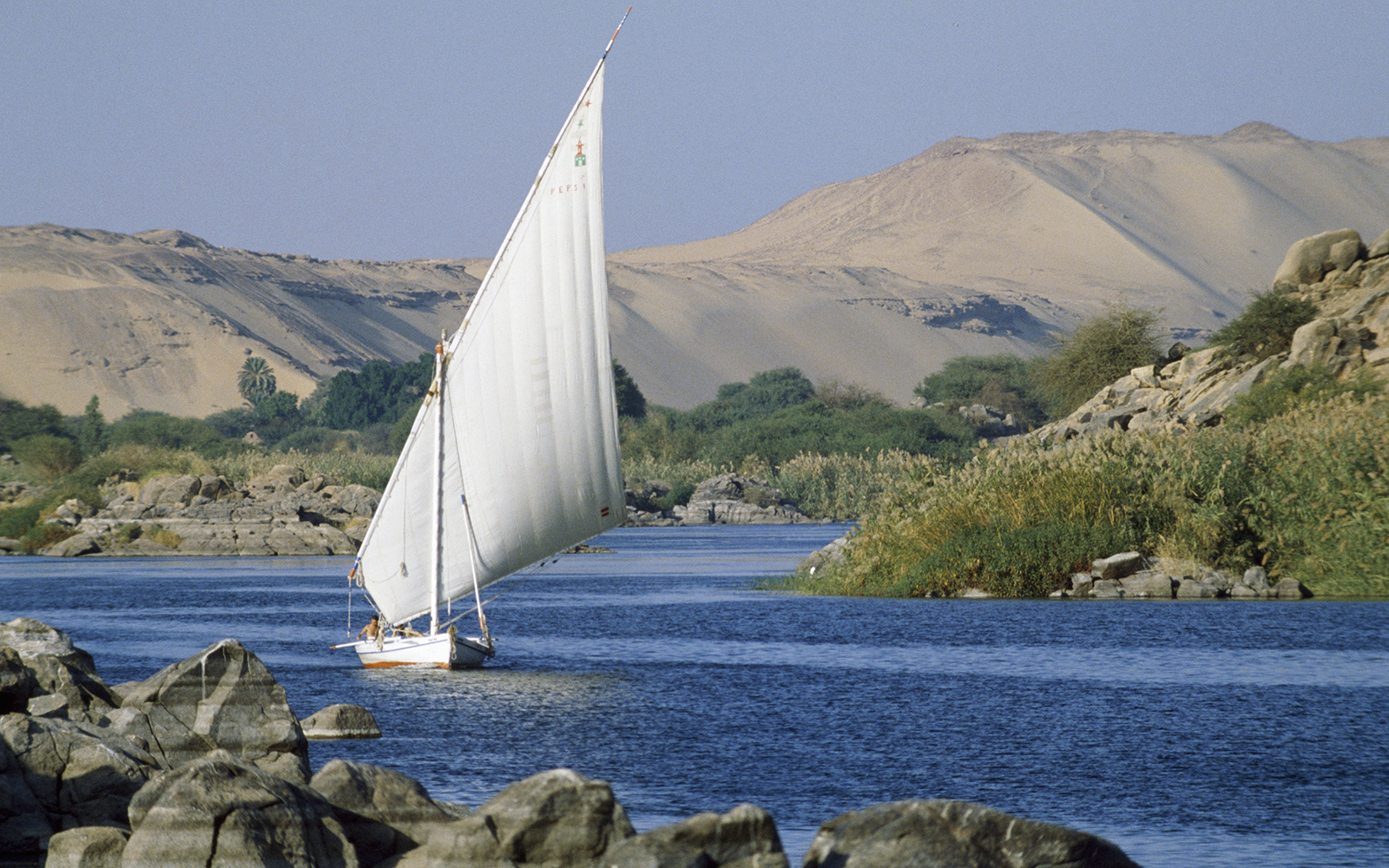 Sail Boat on the Nile River