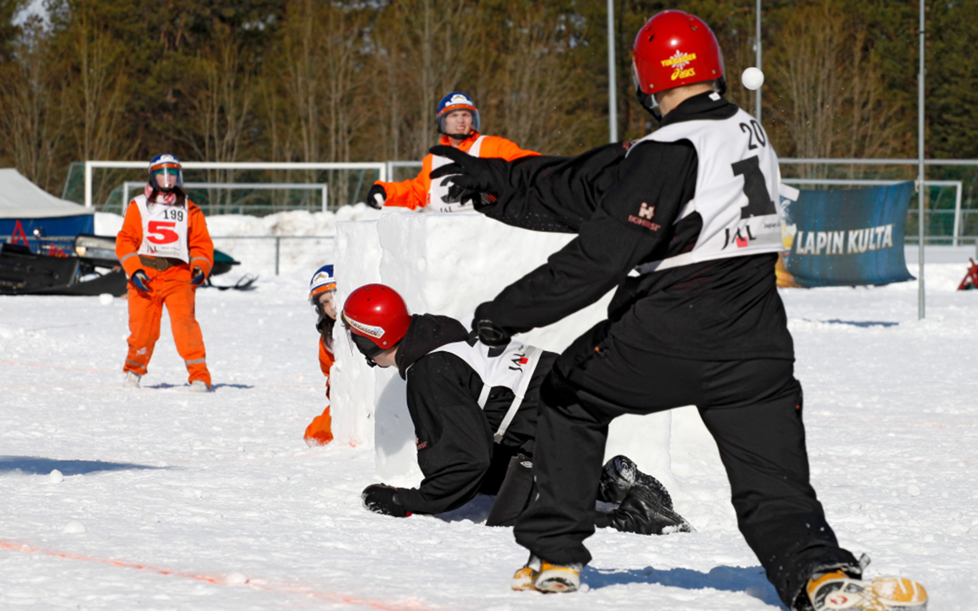 A Snowball Fighting Championship in Japan