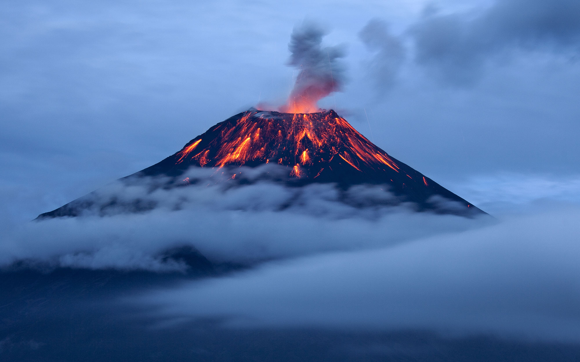 Watch a Volcano Erupt in Ecuador