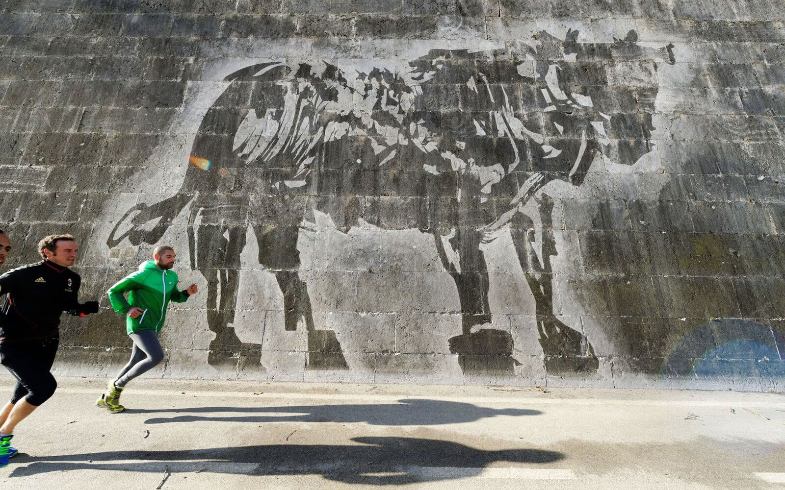 William Kentridge Power wash Stencil Rome