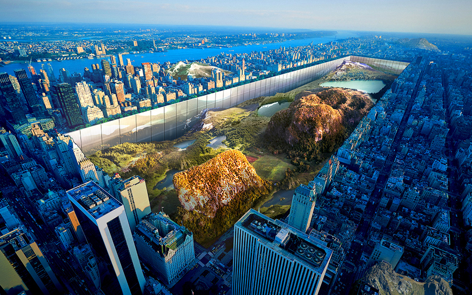 See the Prize-Winning Plan to Turn New York's Central Park into a Sunken Valley