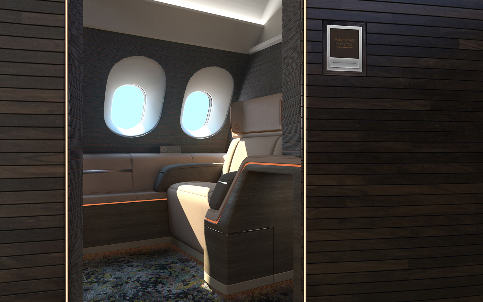 future airplane cabin