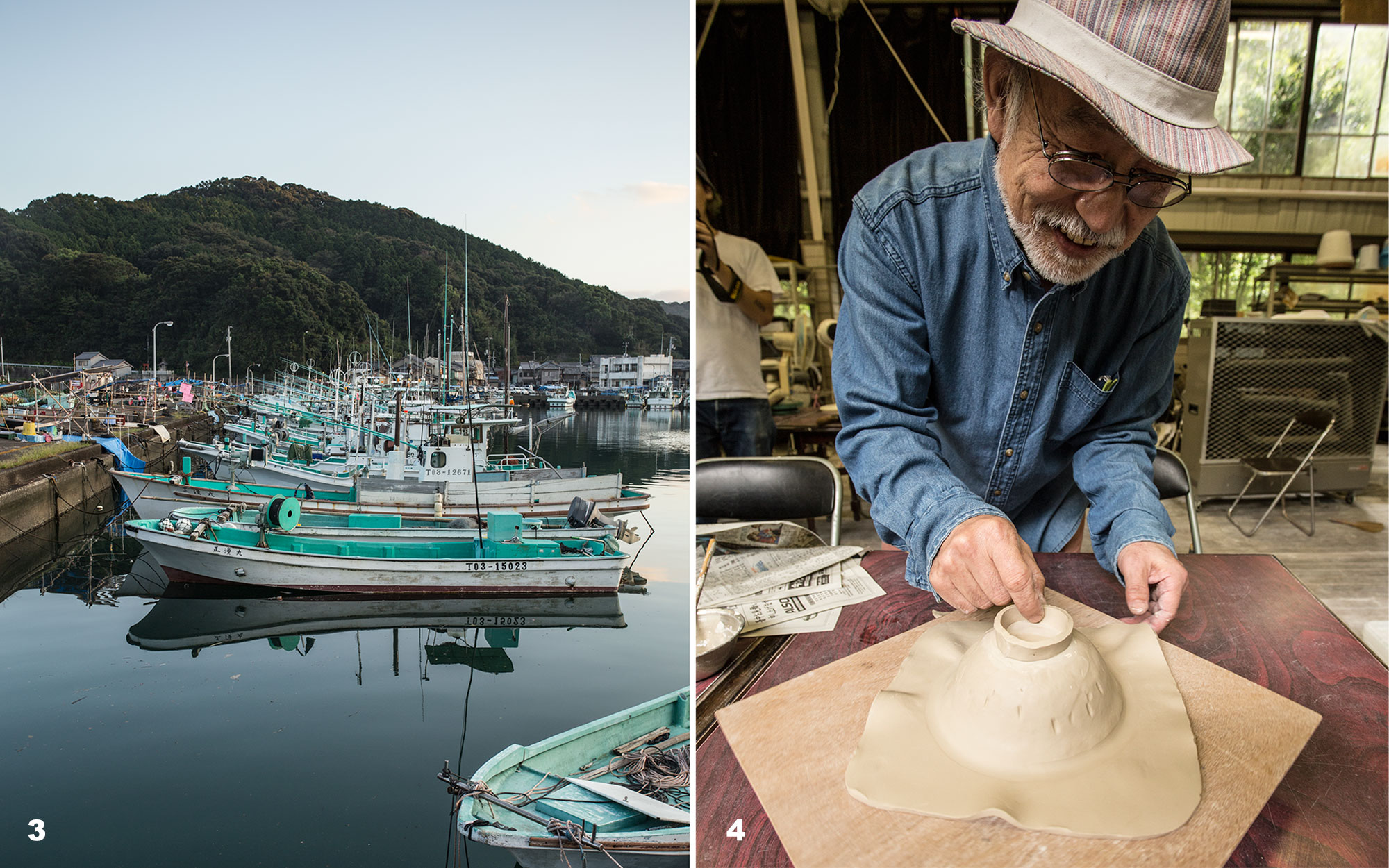 fishing boats and ceramics