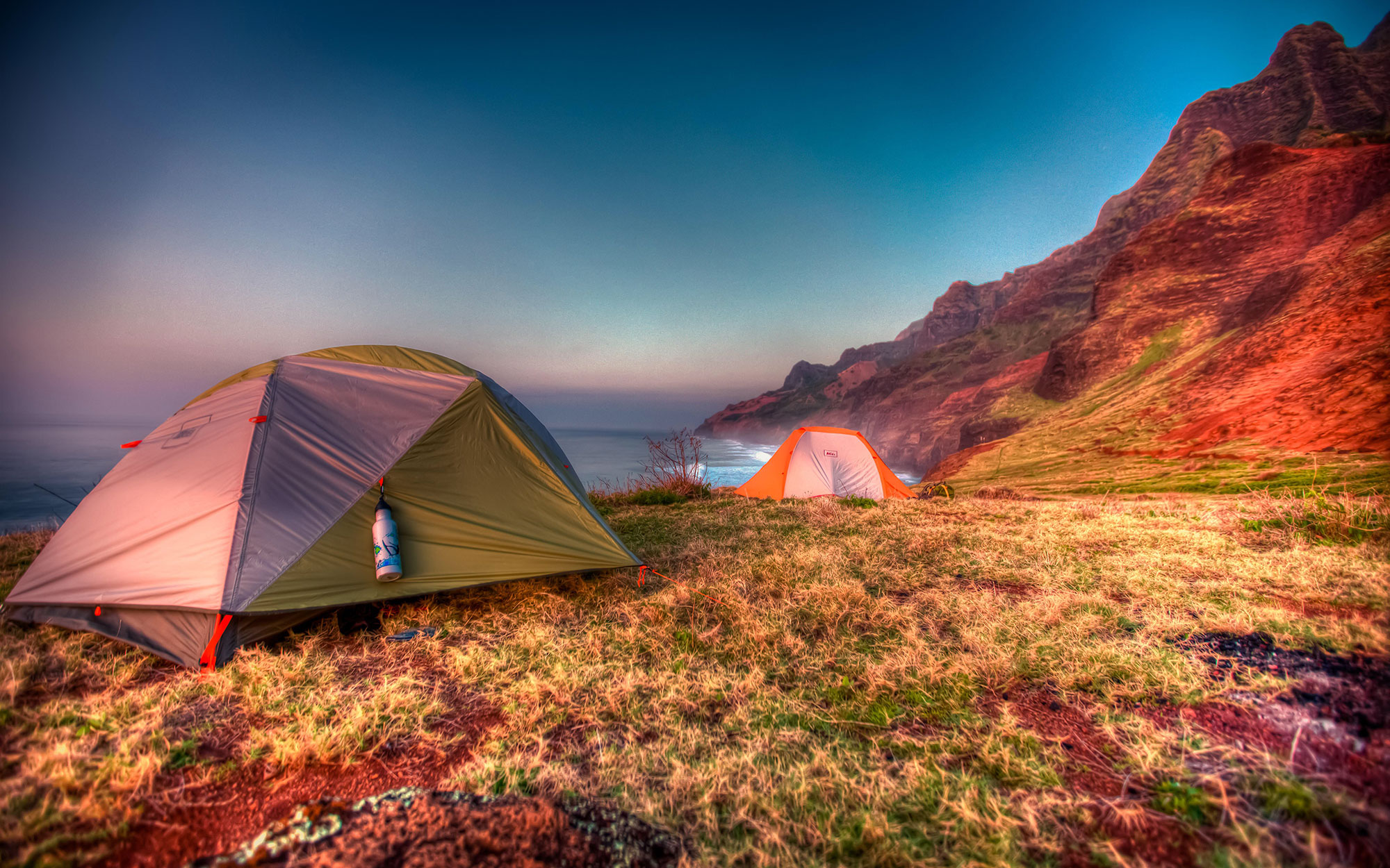 Illegal Campsites on Hawaii's Beaches