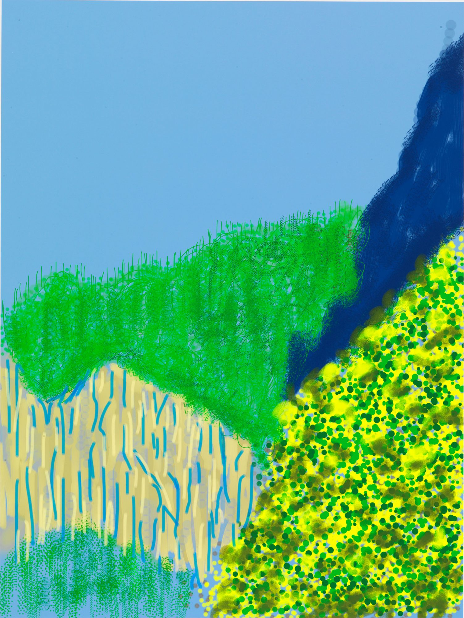 "David Hockney""Untitled No. 3"" from ""The Yosemite Suite"""