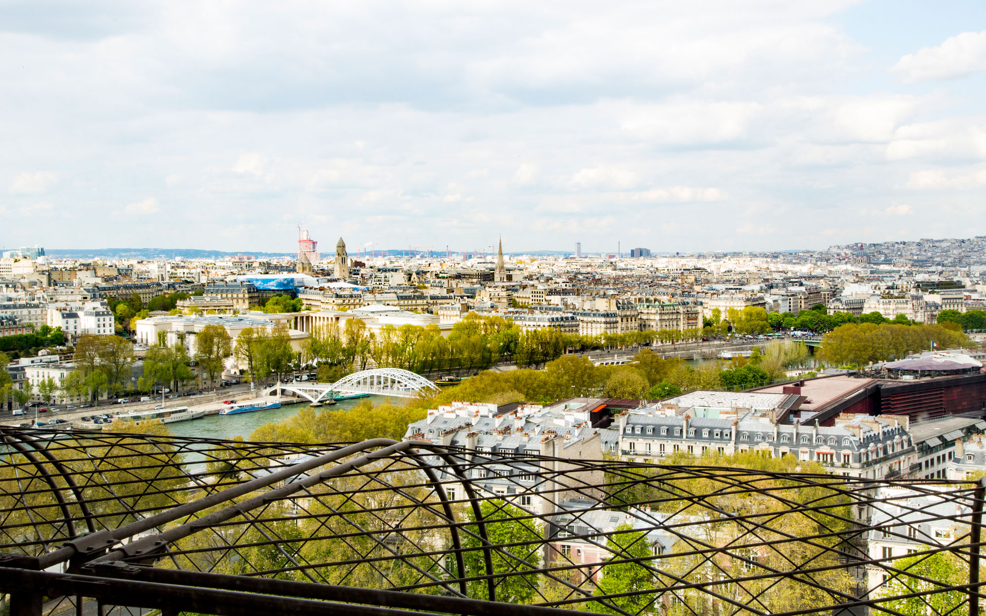 Views from suite at Eiffel Tower
