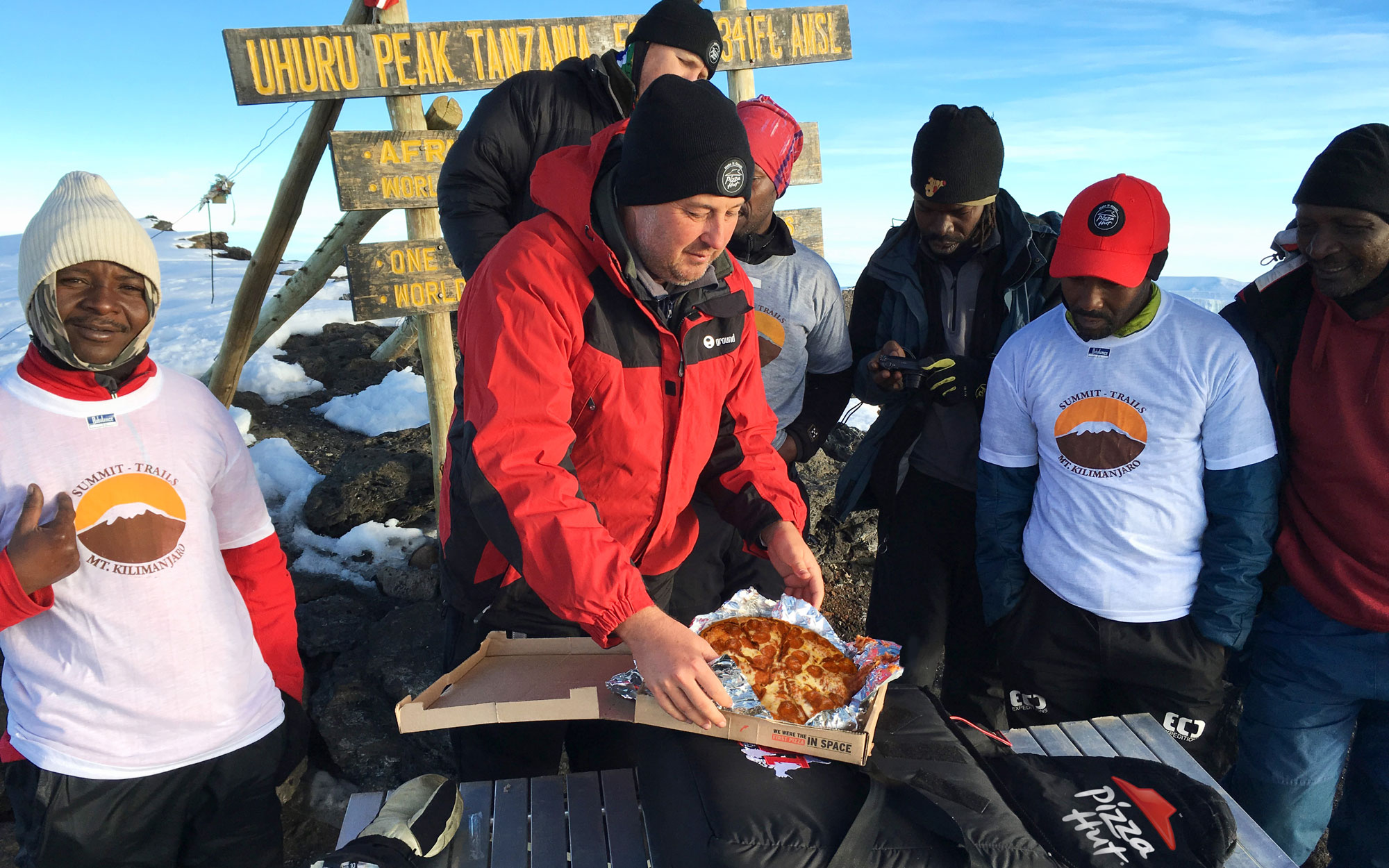 Pizza Hut Just Delivered A Pizza To The Top of Mt. Kilimanjaro