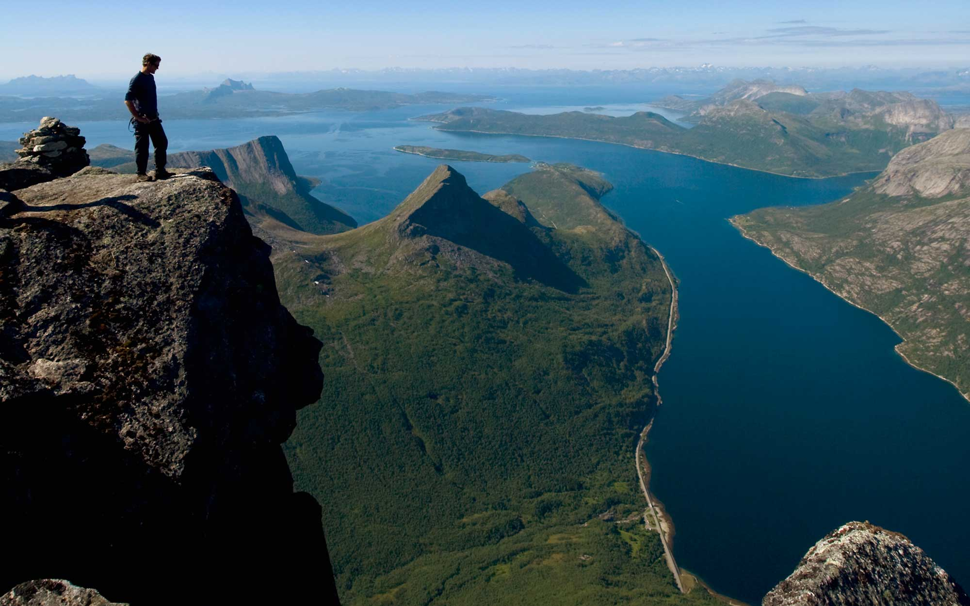 Watch A Hiker Attempt A Death-Defying Climb Down A Norwegian Mountain