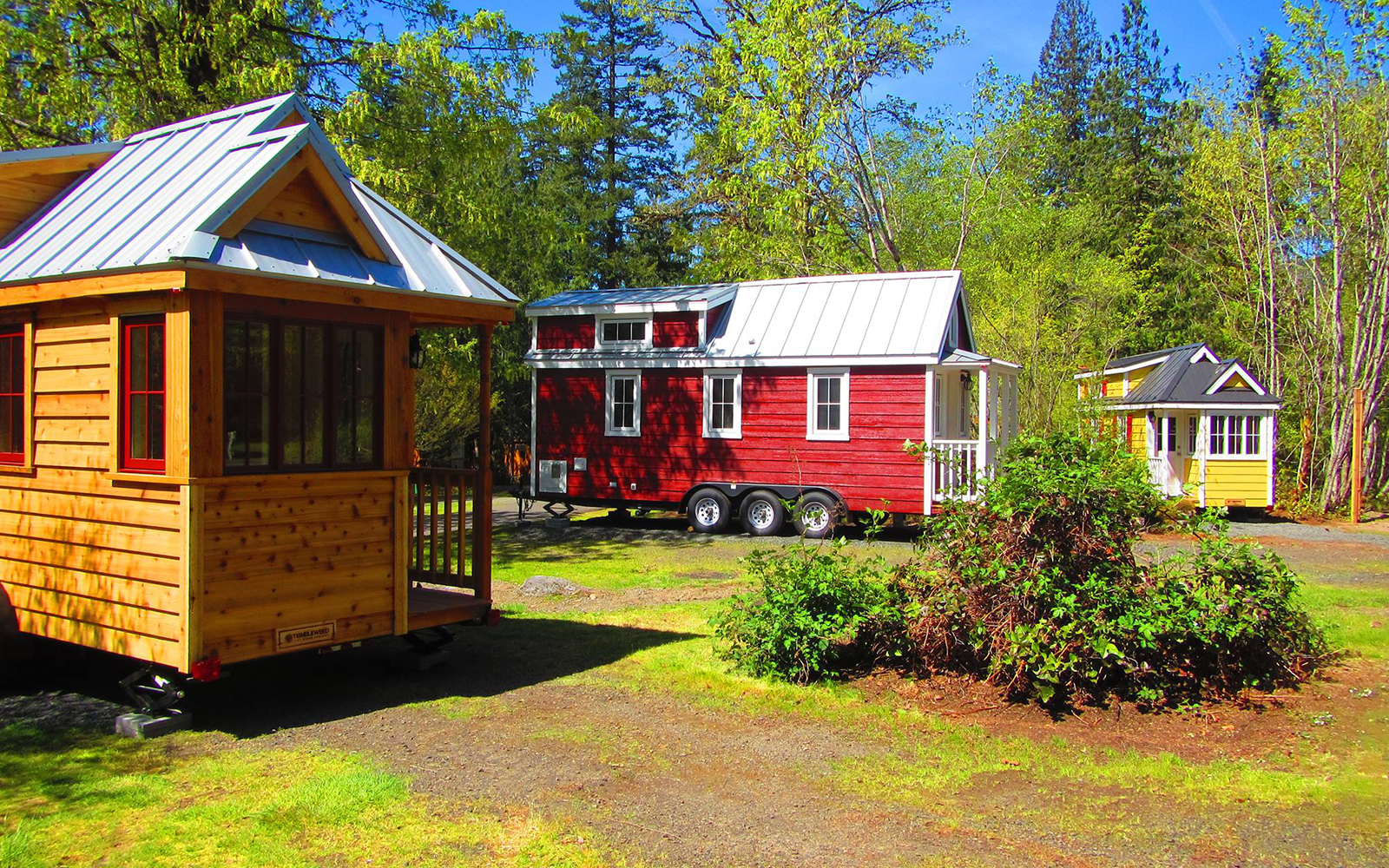 You Can Now Stay in a Tiny House Resort On Oregon's Mt. Hood