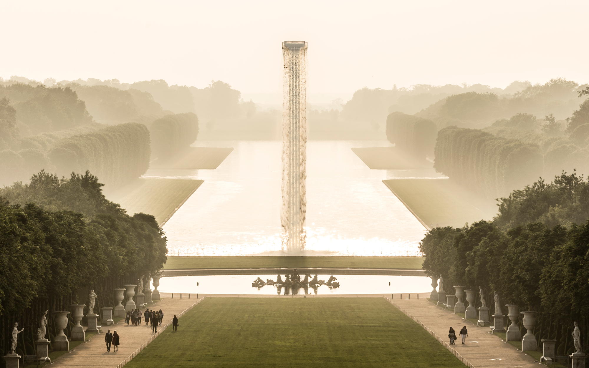 Floating Waterfall Installed at the Palace of Versailles