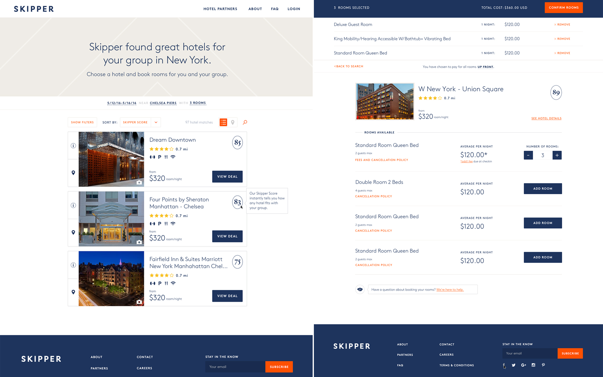Skipper Makes Multi-Room Hotel Bookings Simple