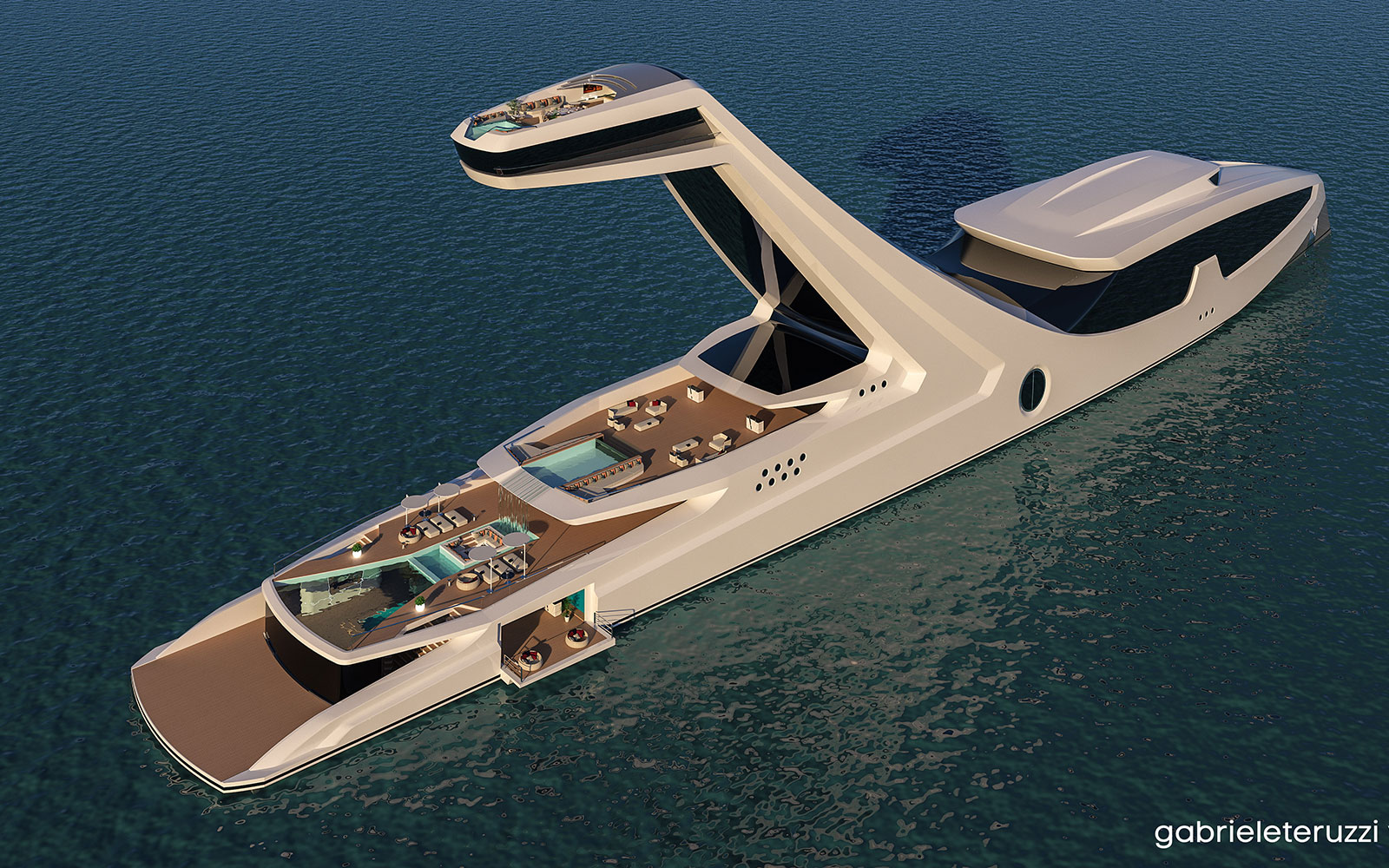 Take a Peek at the Outlandish Plans for the World's Tallest Yacht