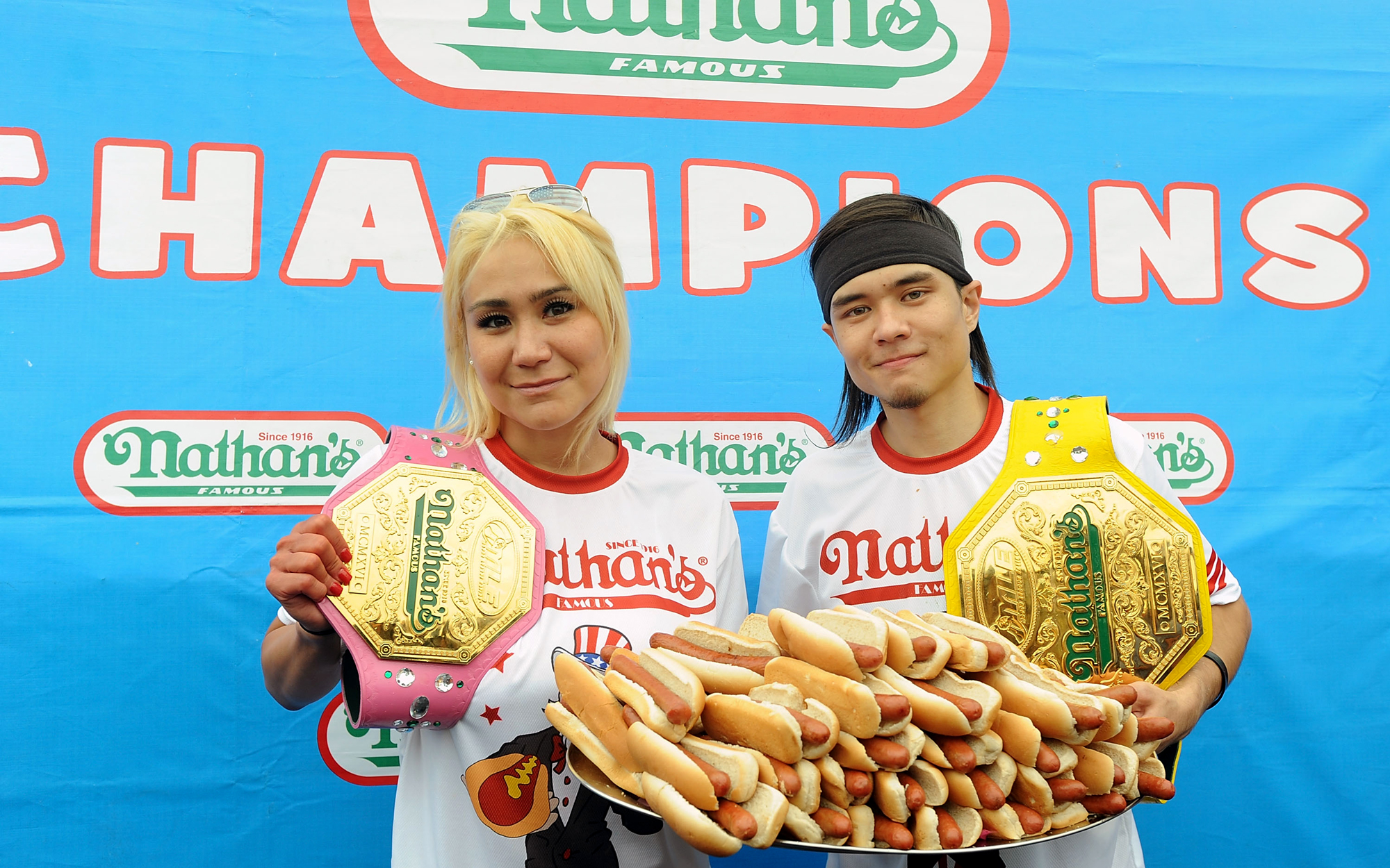 What it's like traveling to compete in a hot dog eating contest
