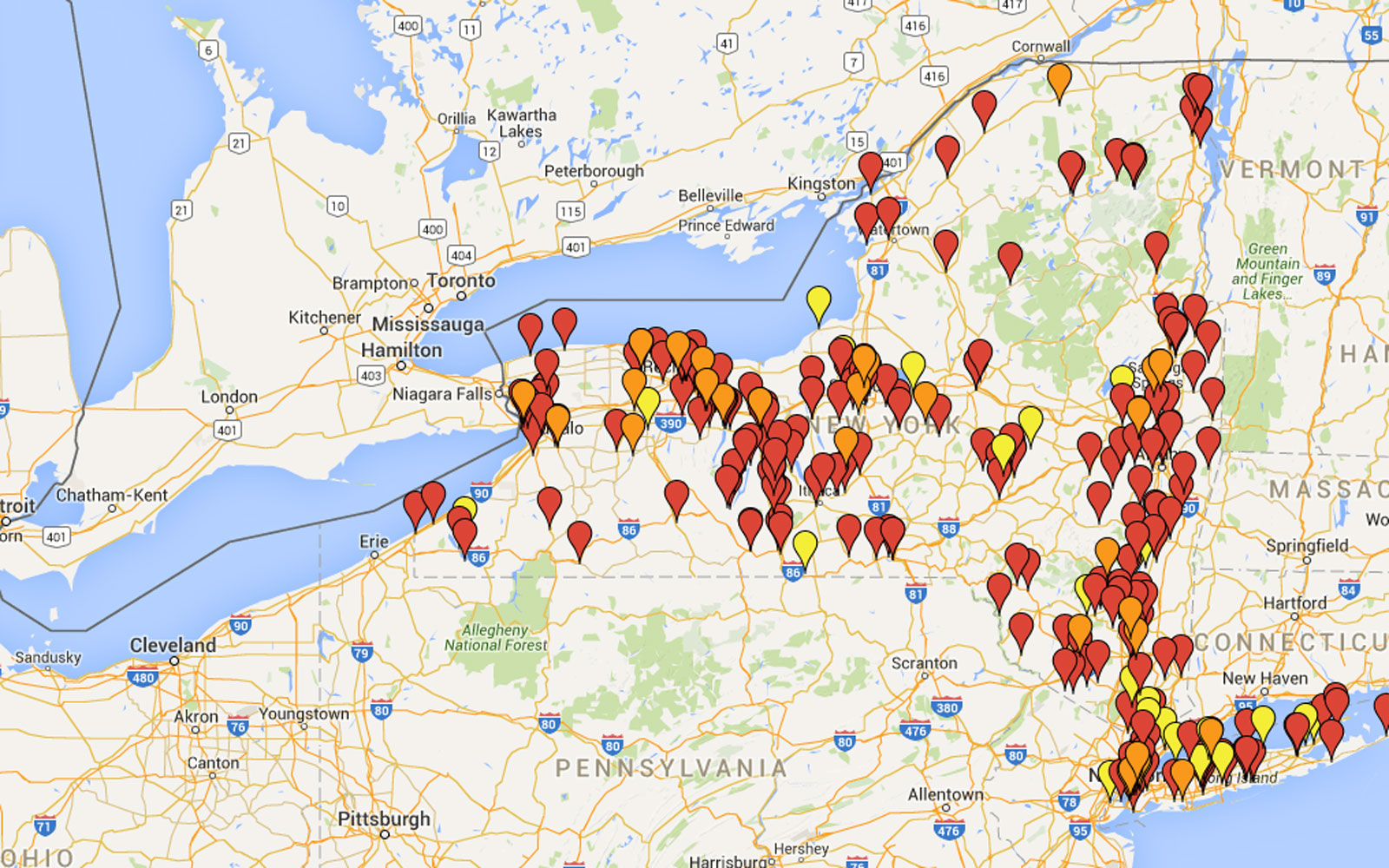 Every beer lover in New York state needs this map