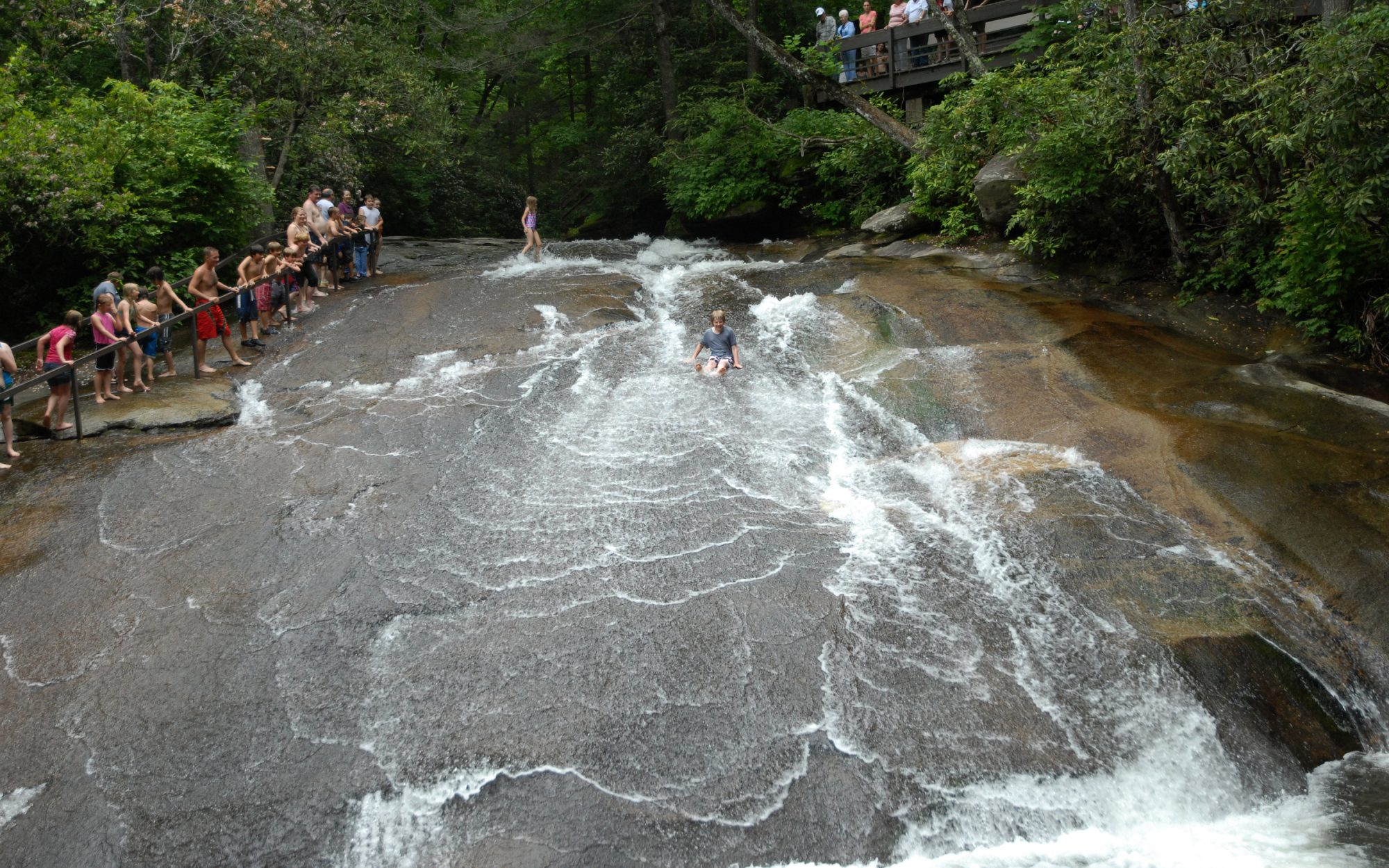 All About North Carolina's Sliding Rock