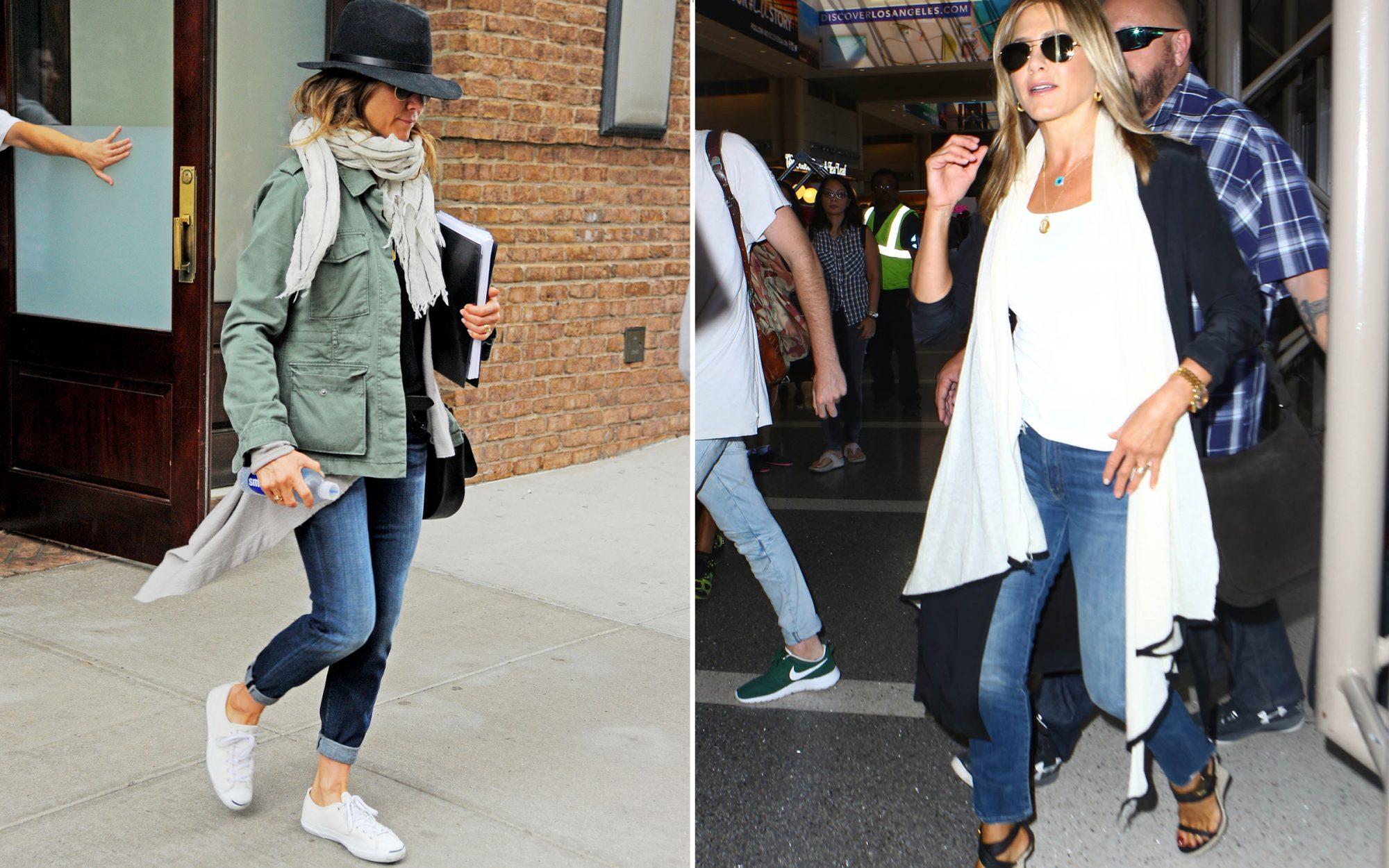 Shop Jennifer Aniston's Travel Shoes