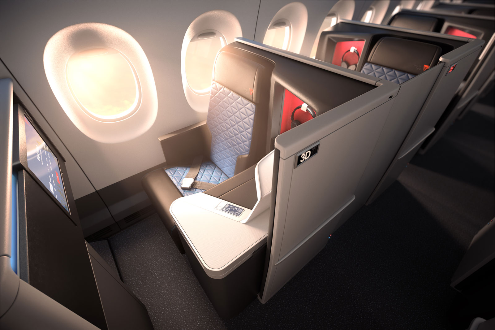 The suites that will be in Delta's new Airbus A350.