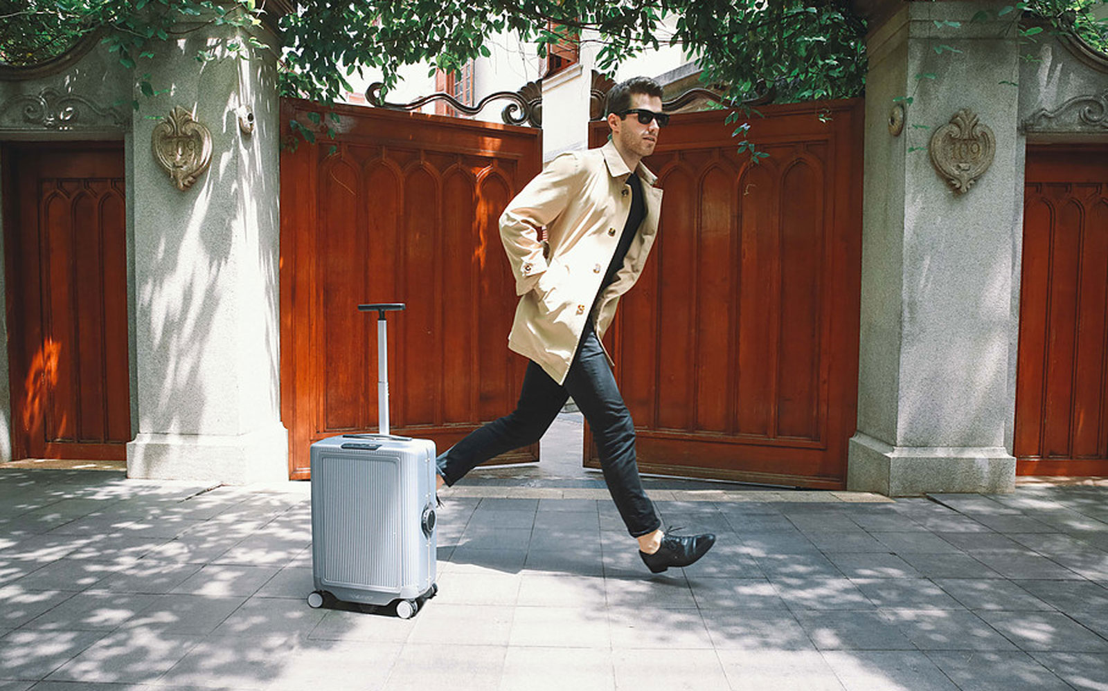 Robotic suitcase follows you around