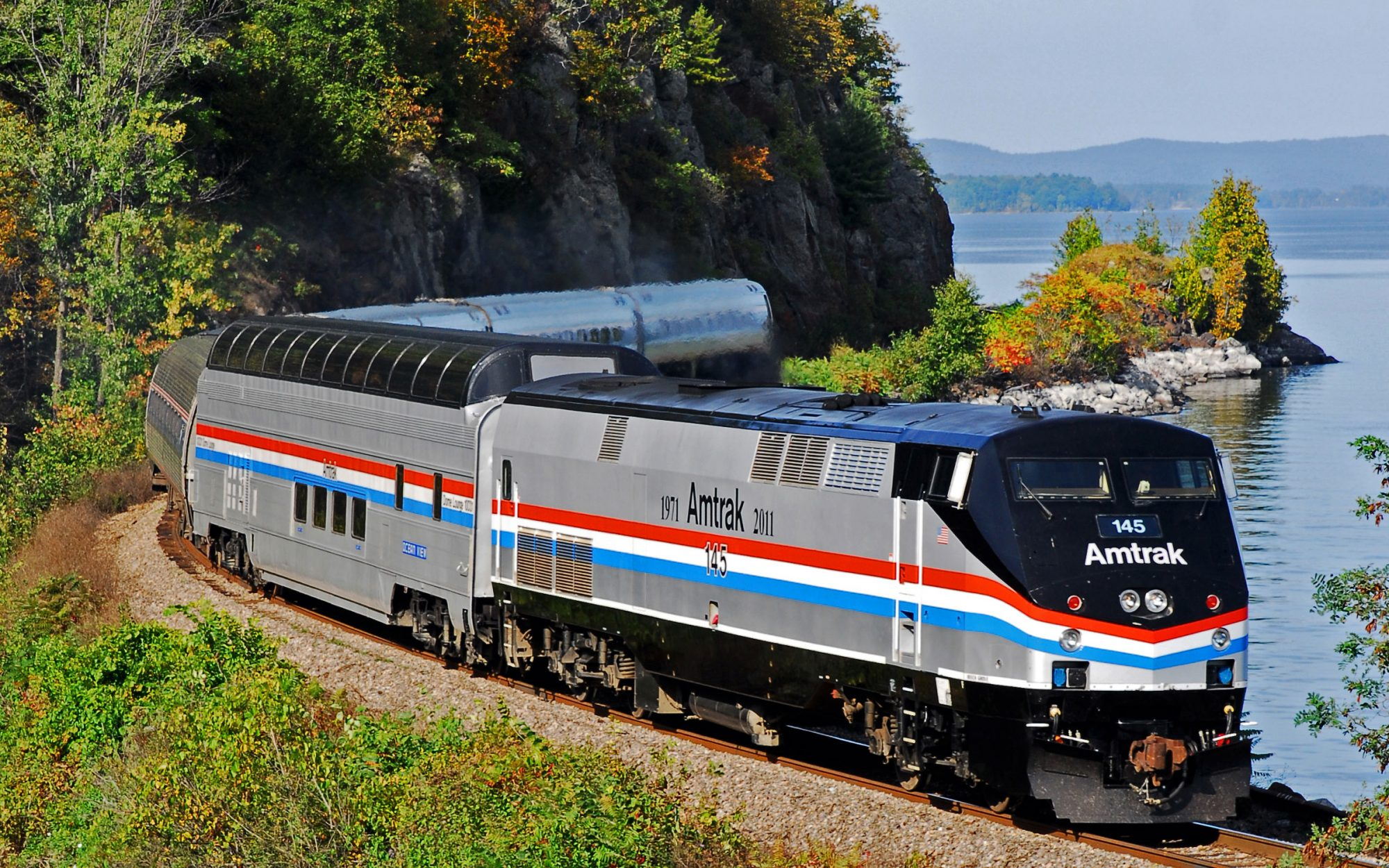 Gaze at Stunning Fall Foliage Aboard Amtrak's Vintage Great Dome Train