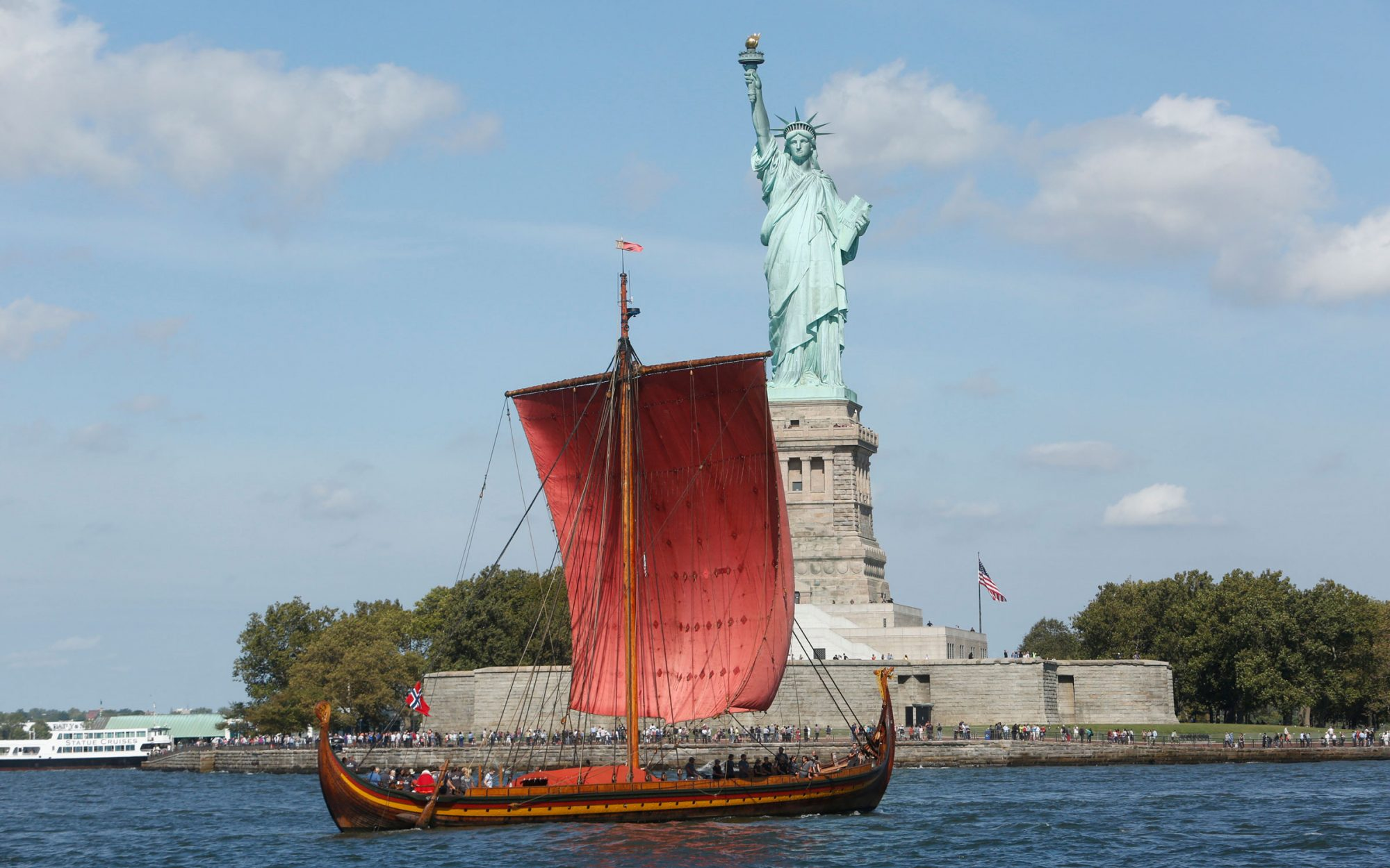 There's A Viking Ship Docked in New York Harbor