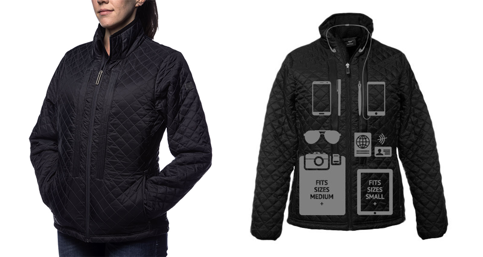 Carry every device you own in this jacket.