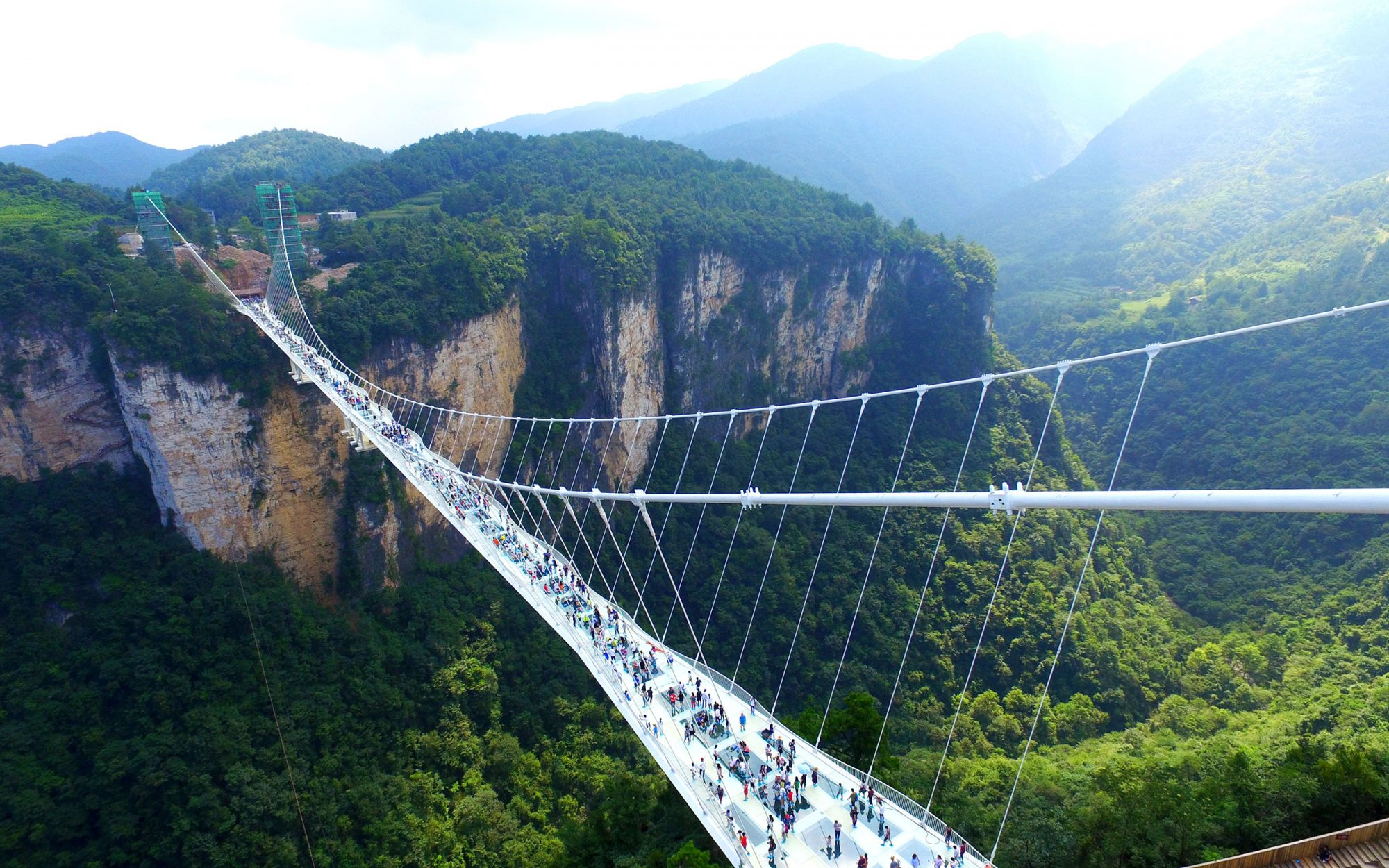 Glass Bottom Bridge Reopens in China
