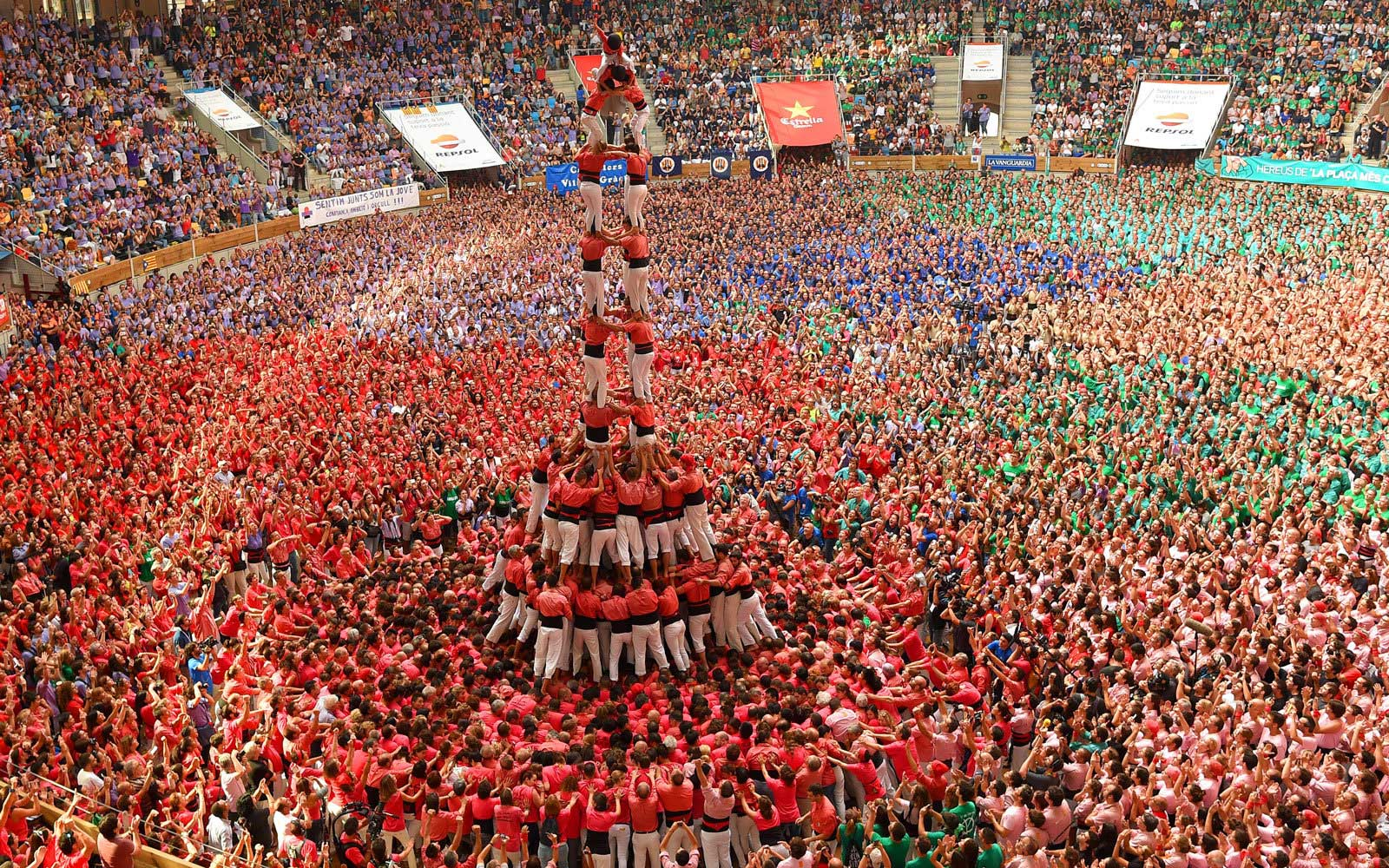 See Vertigo-inducing Human Towers in Catalonia, Spain