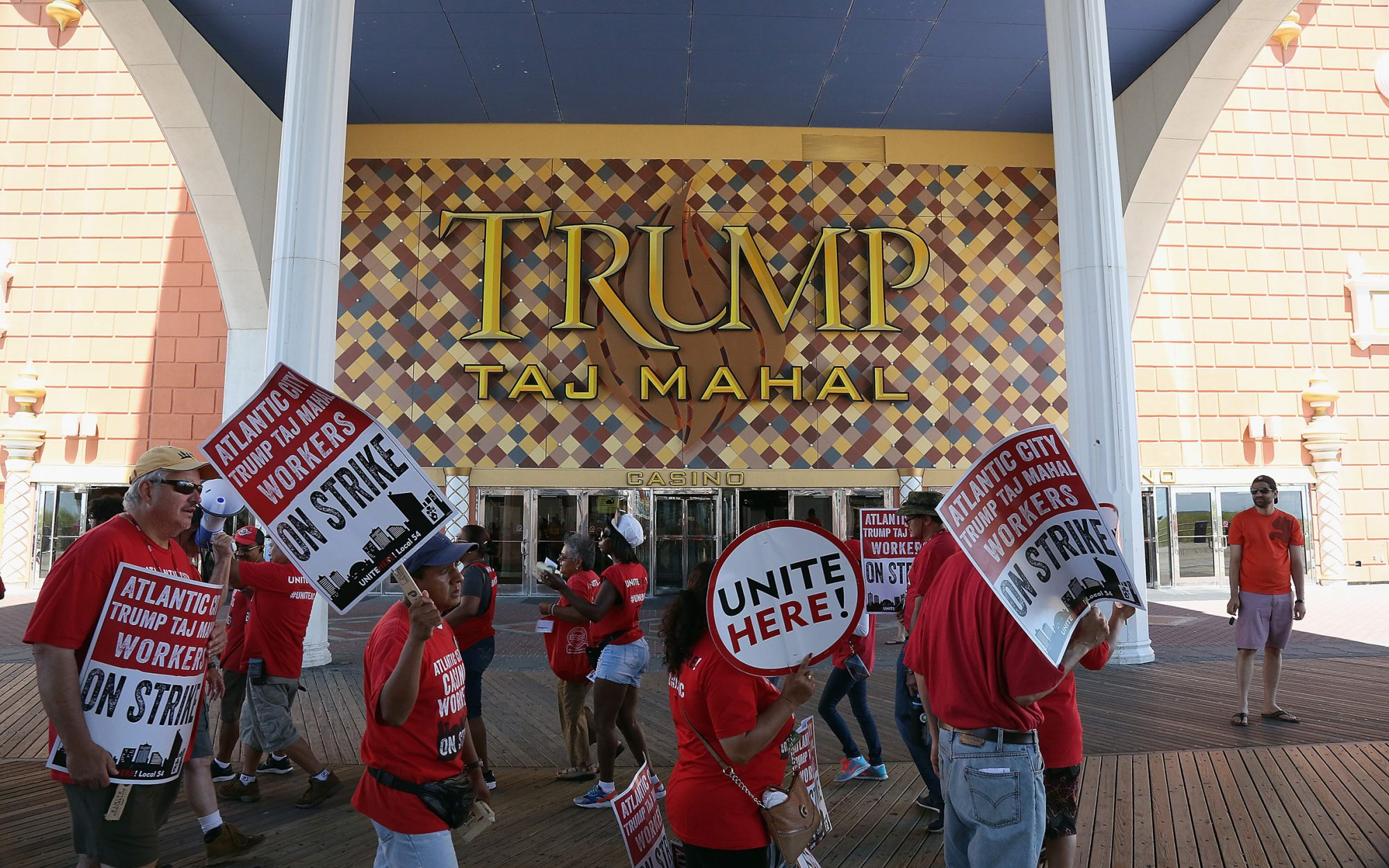Picket Line, Trump Taj Mahal, Atlantic City