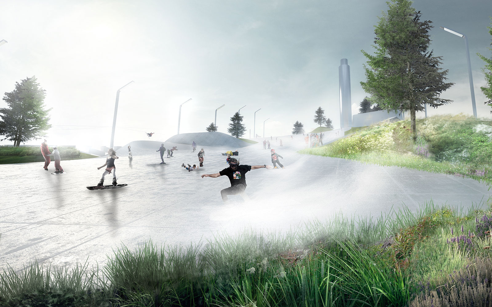 A ski slope on top of a green power plant? Only in Copenhagen.