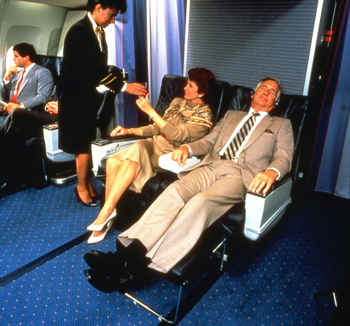 First class on Pan Am.