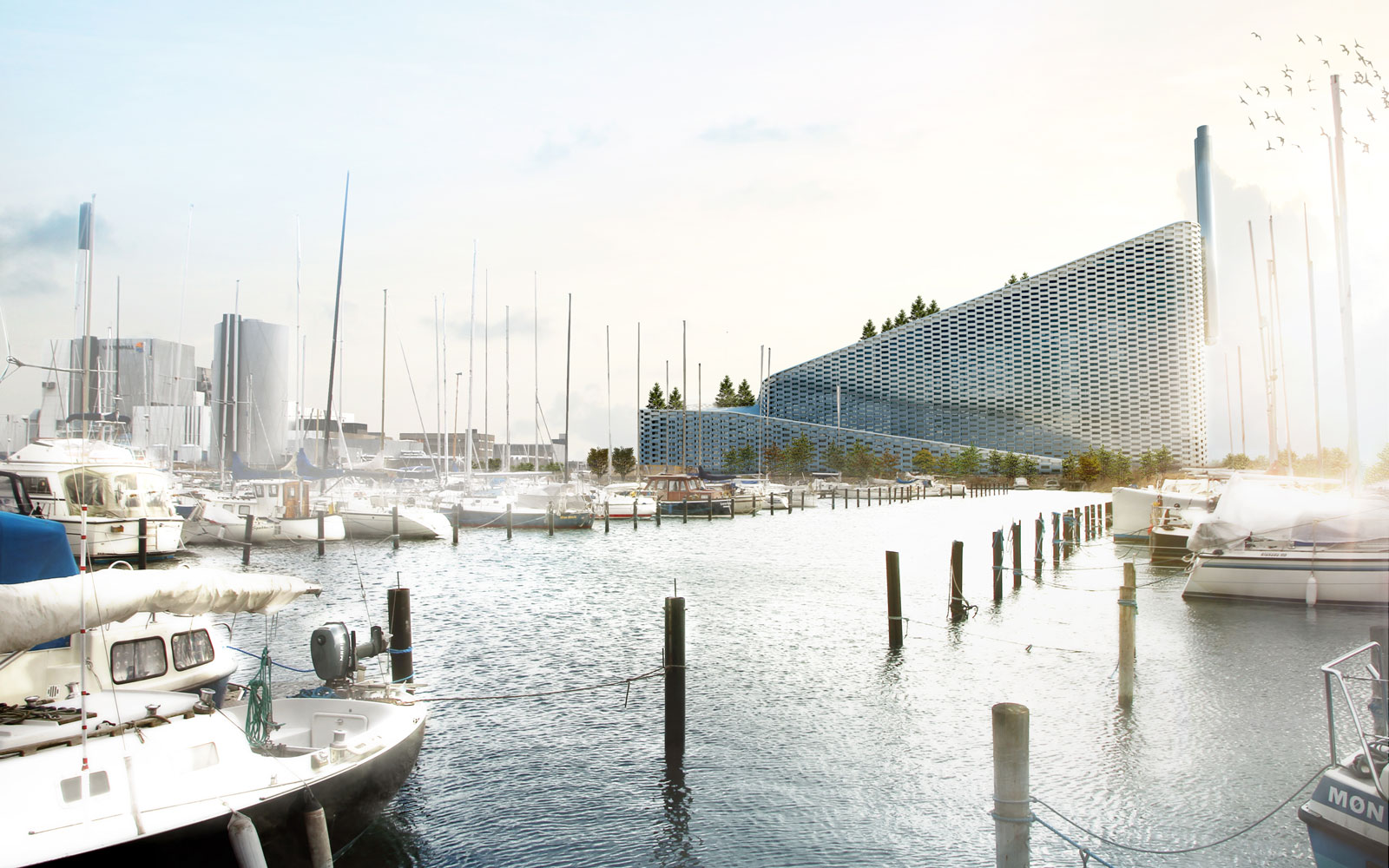 Copenhagen is putting a ski slope on top of a green power plant.
