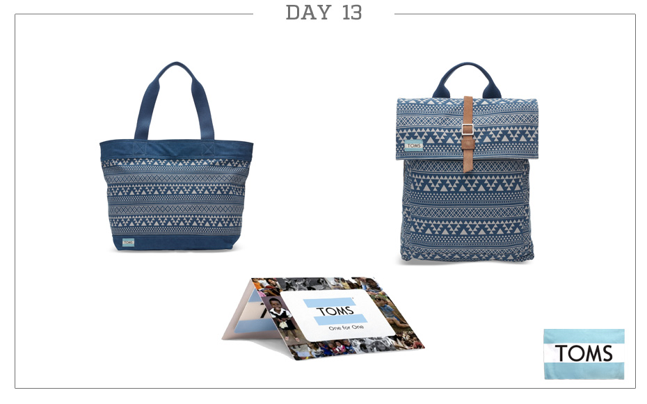 Day 13: TOMS Travel Duo & $100 Gift Card