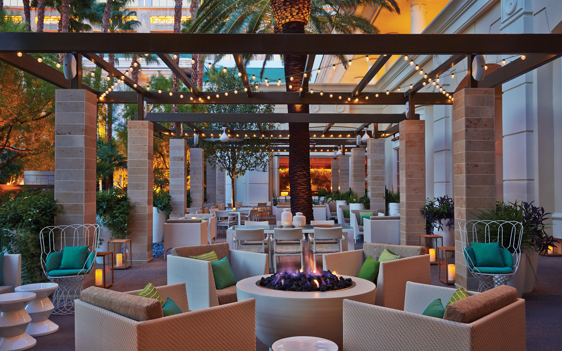 """The Four Seasons Hotel Las Vegas was the city's first hotel without a casino attached, and T+L readers took note. It received a score of 91.040, and one reader called it """"a nice oasis from the din of Vegas when you need a vacation from the vacation."""" Another reader commented that it's great for business travelers. Guests can expect all the usual Four Seasons touches—elegantly decorated rooms with marble baths, attentive service, and great dining options."""