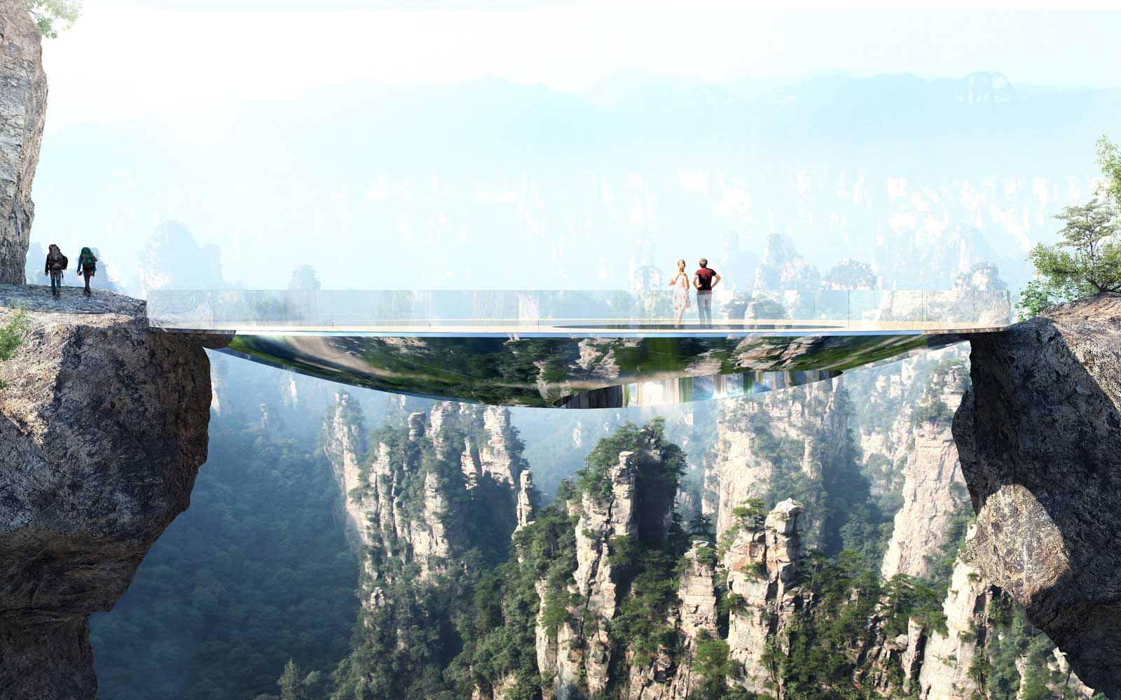 This Invisible Glass Bridge in China Is a Thrillseeker's Dream Come True
