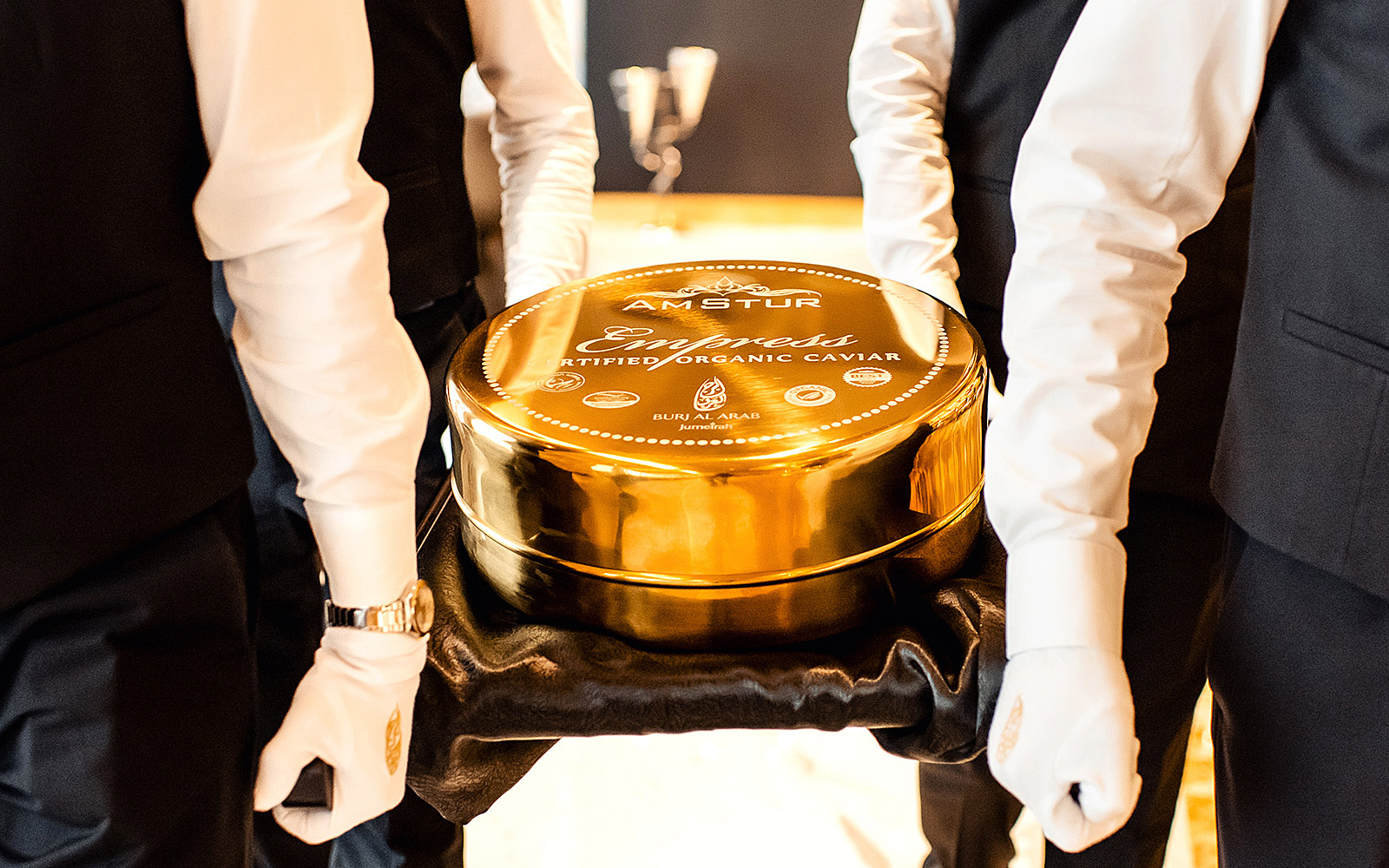World's Largest Tin of Caviar Premiered at the World's Most Luxurious Hotel
