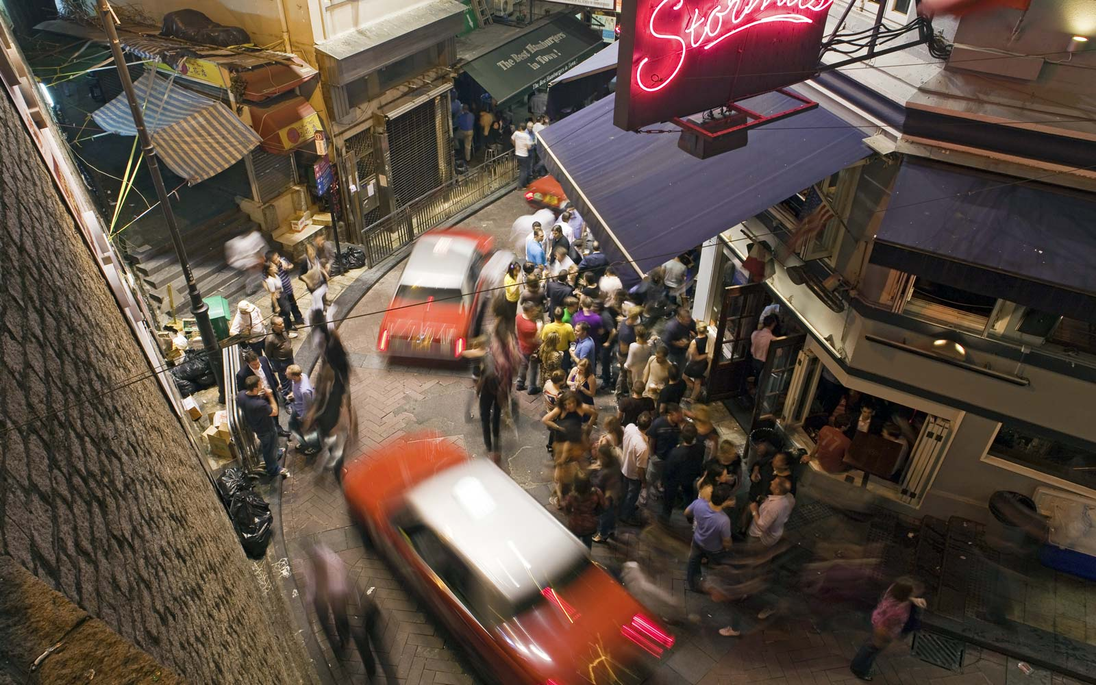A Night Out in Hong Kong's Lan Kwai Fong Neighborhood