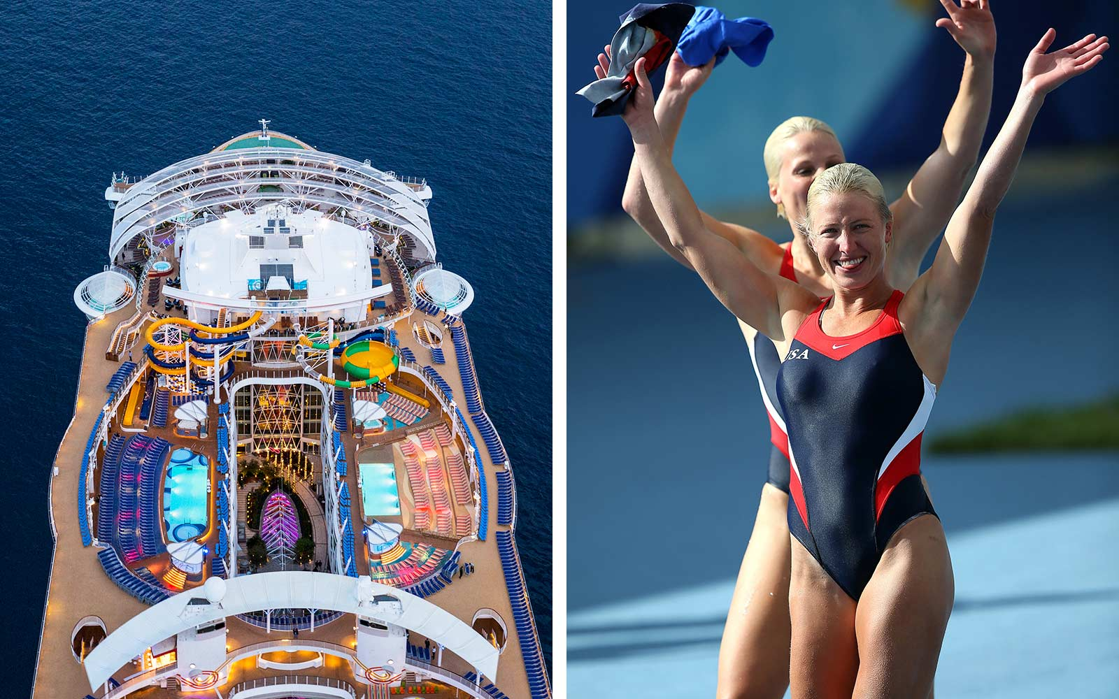 Watch a Woman Make an Insane 55-foot Dive Into the World's Deepest Cruise Ship Pool