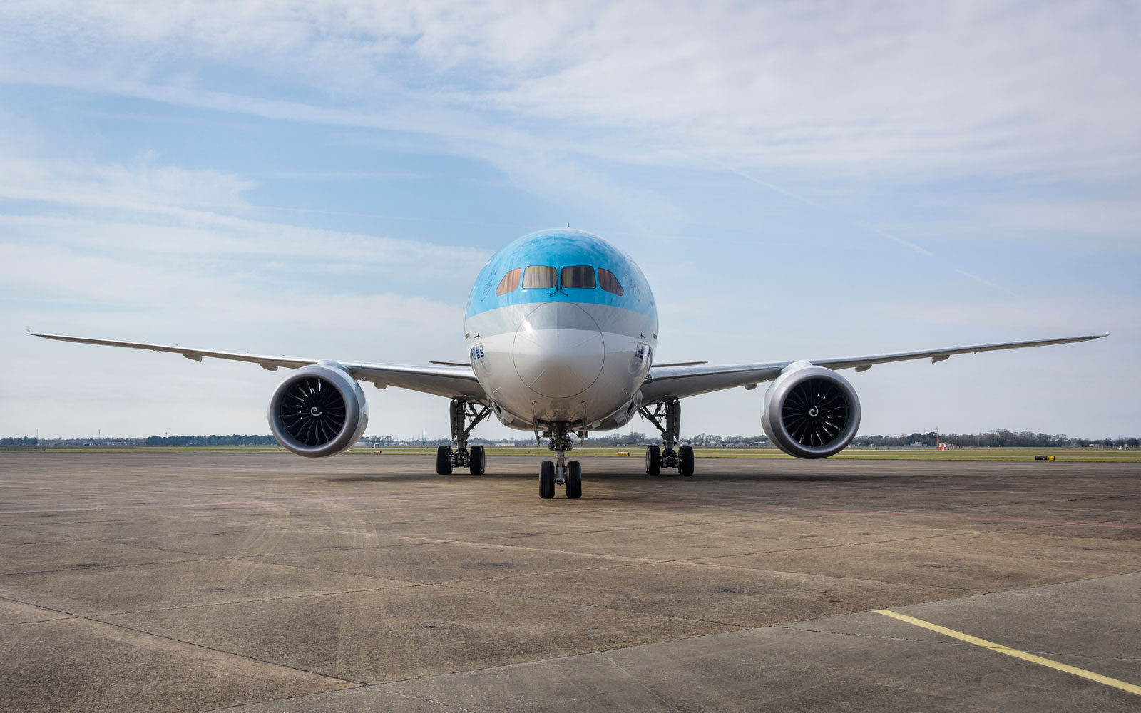 Korean Air's new Boeing 787 Dreamliner.