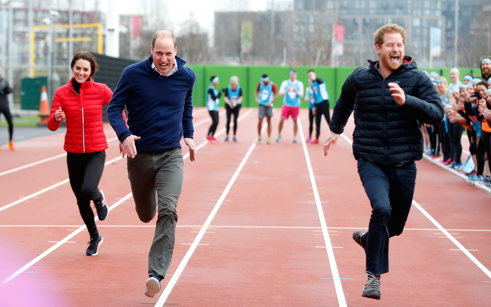 The Royals Do a Charity Race