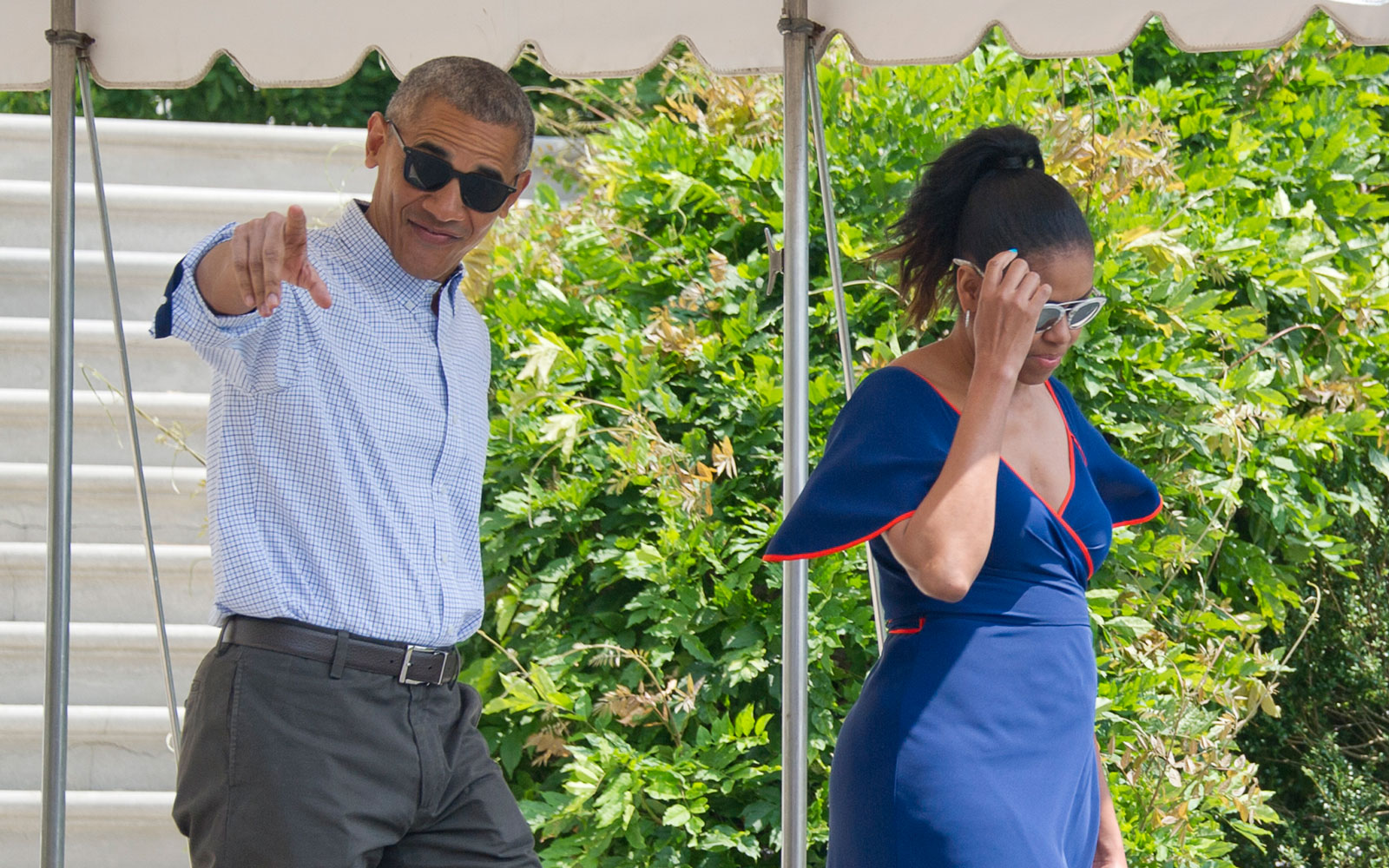 Barack and Michelle Obama Relax in the Caribbean With Richard Branson