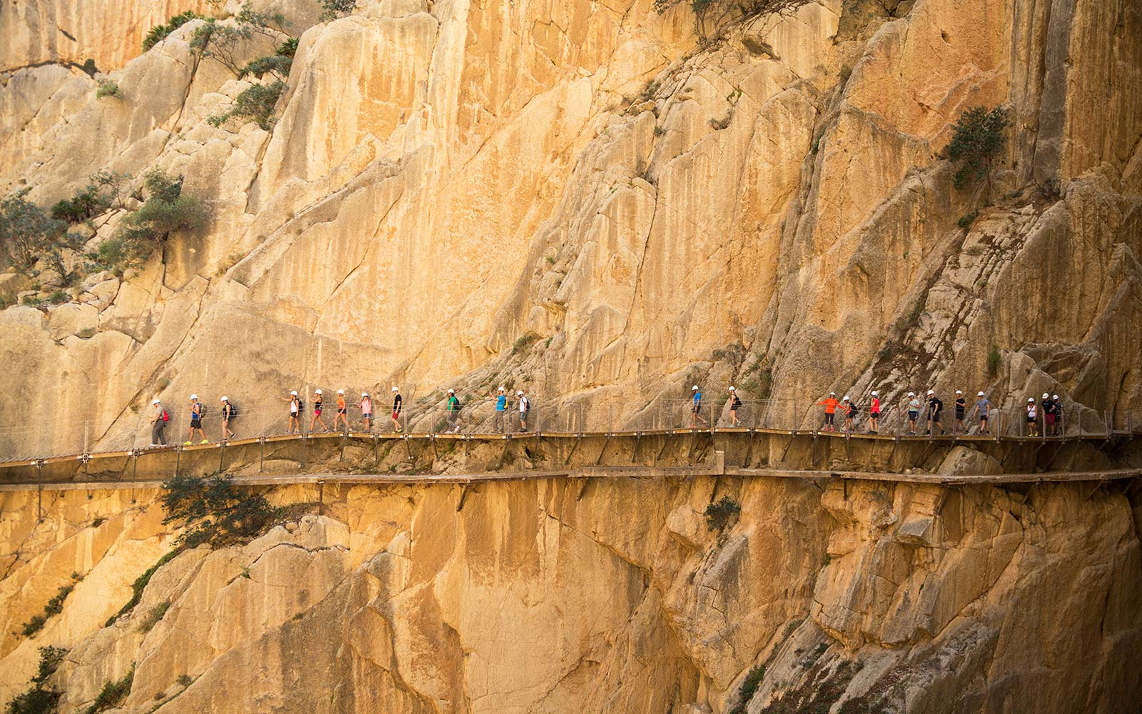 Caminito del Rey Andalusia Spain Dangerous Foot Bridge
