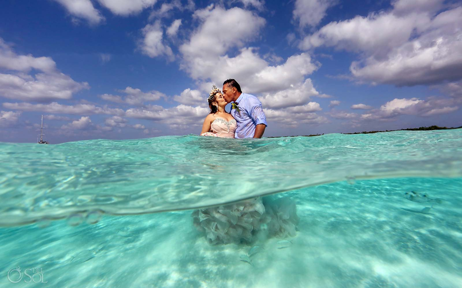 A Wedding on a Sandbar in the Caribbean Sea