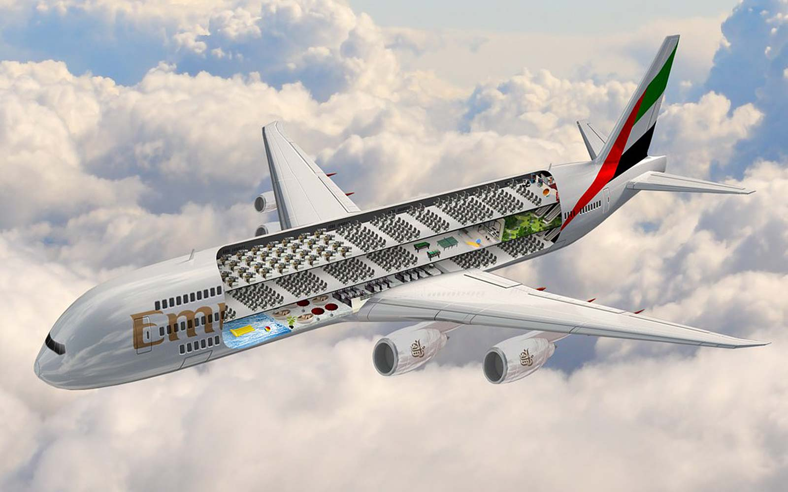 Emirates Wants to Build an Airplane with a Swimming Pool and Gym Onboard