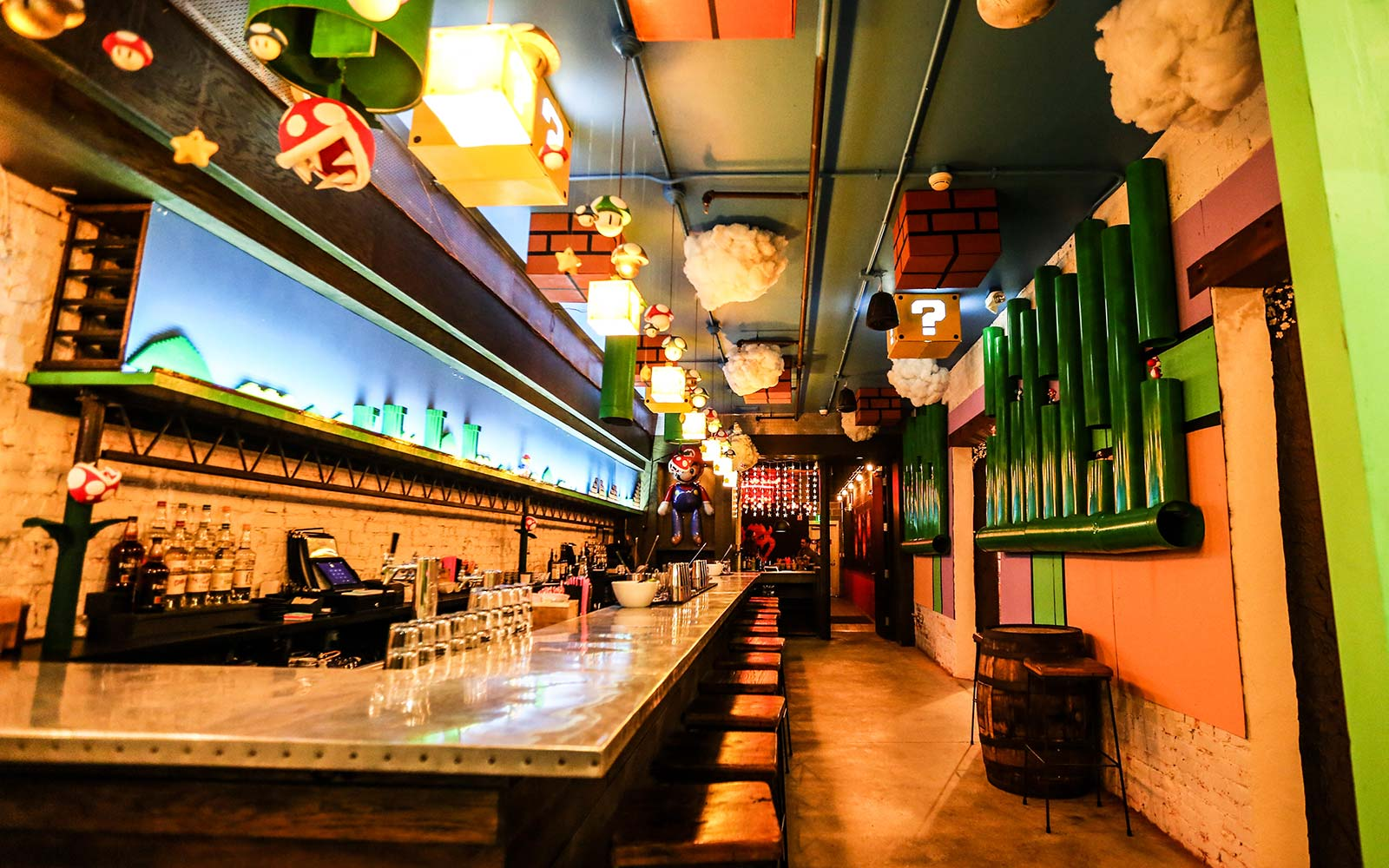 Washington d c super mario themed bar has nintendo fans