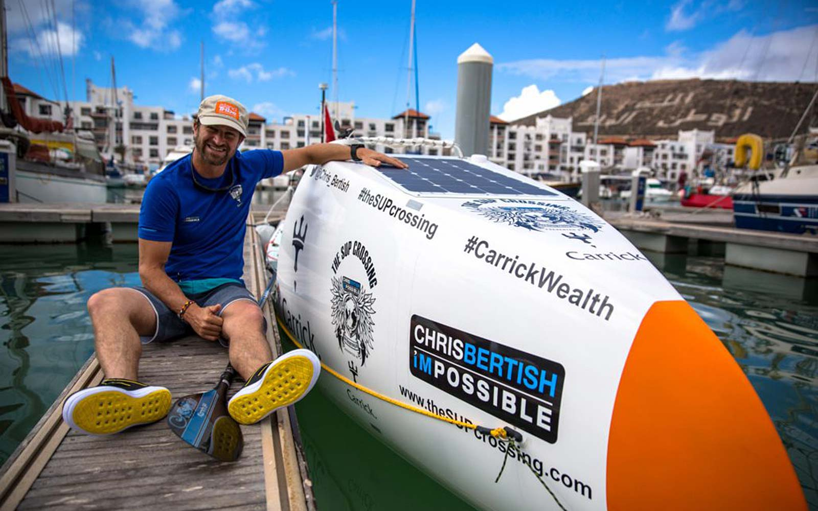 Paddleboarder across Atlantic Chris Bertish