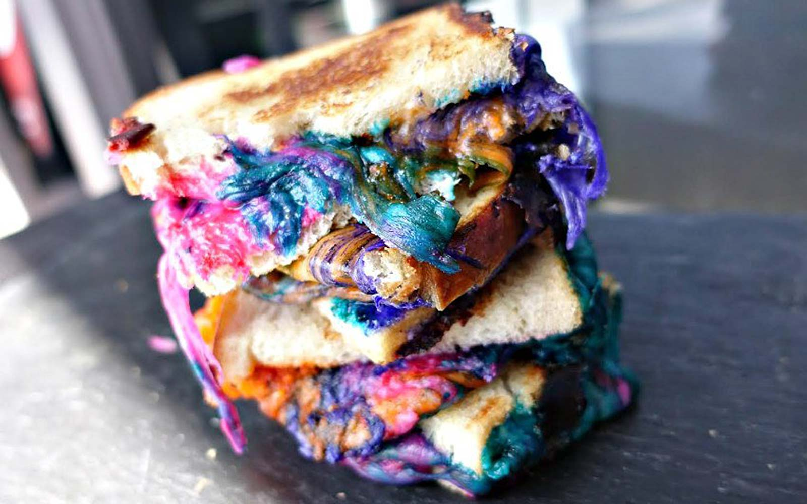 Tired of the Unicorn Frappuccino? Try a Rainbow Grilled Cheese
