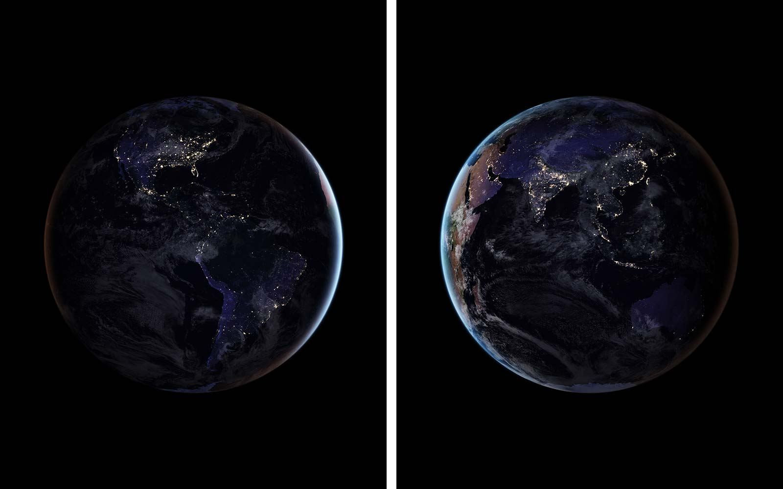 NASA's New Photos of Earth Lit up at Night Will Take Your Breath Away